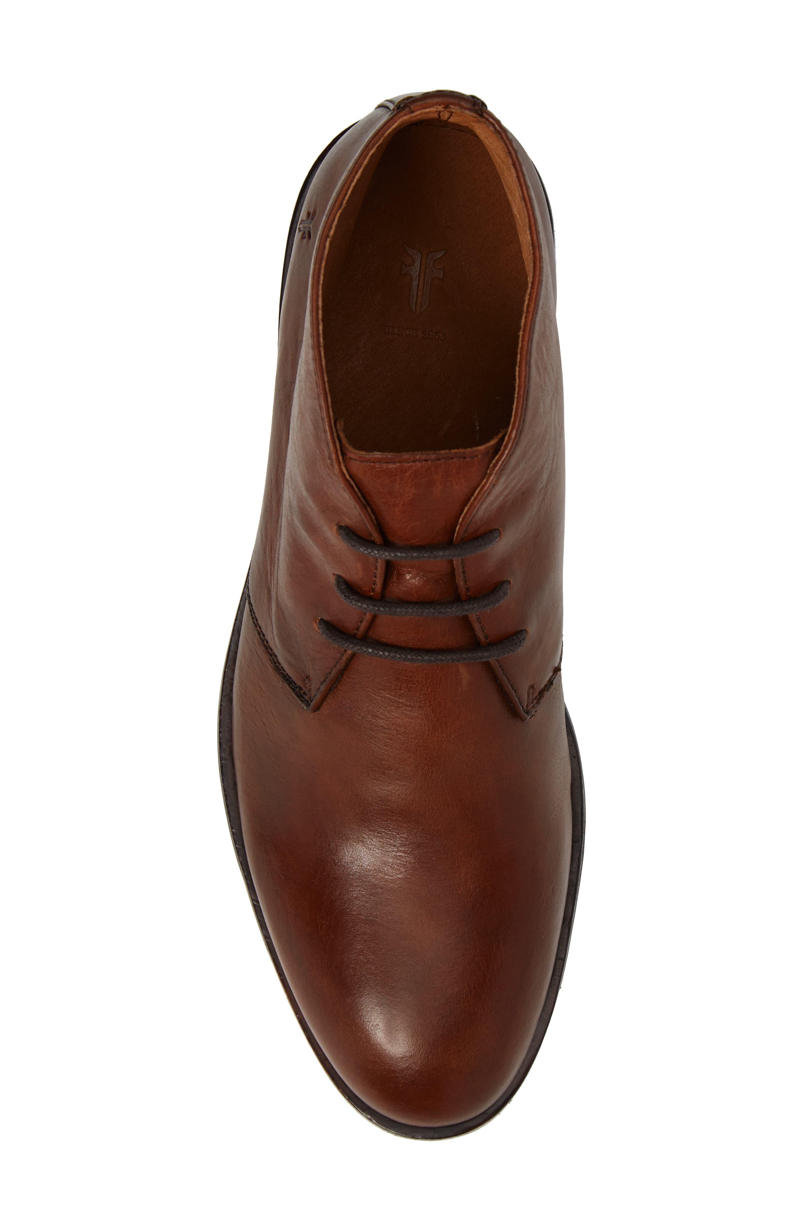 Sam Chukka Boot,                             Alternate thumbnail 5, color,                             Cognac Leather