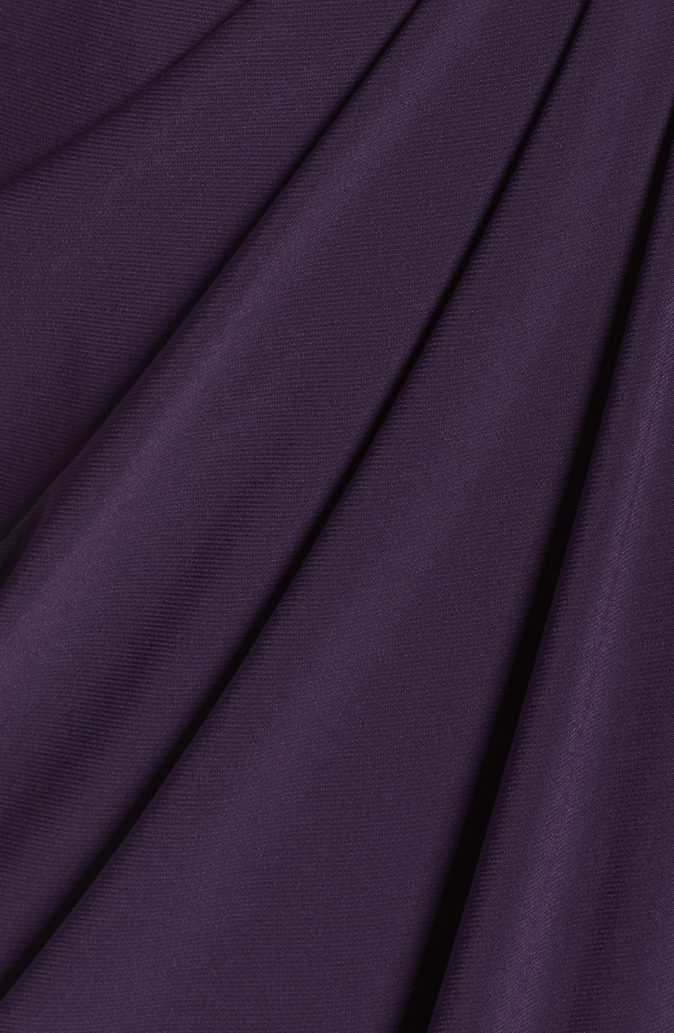 Beaded Jersey Gown,                             Alternate thumbnail 5, color,                             Aubergine