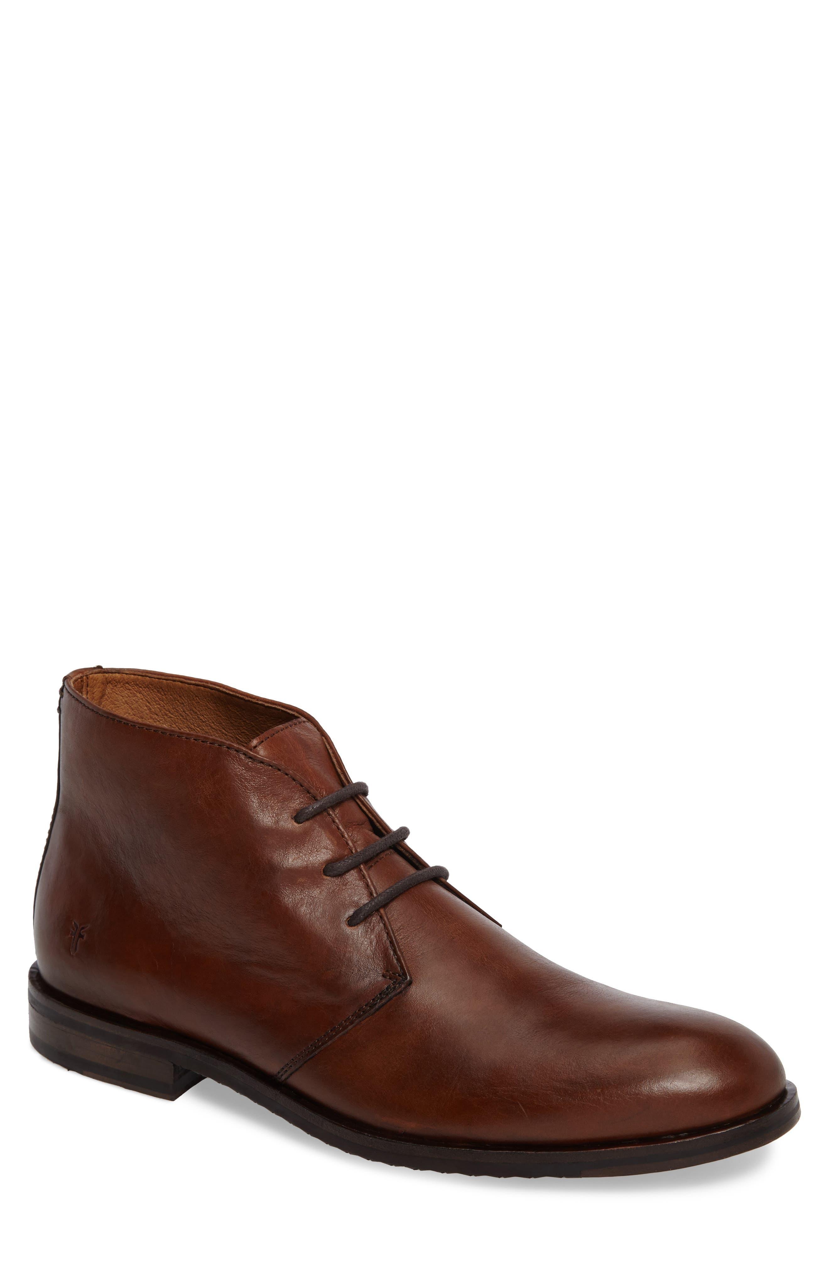 Sam Chukka Boot,                         Main,                         color, Cognac Leather