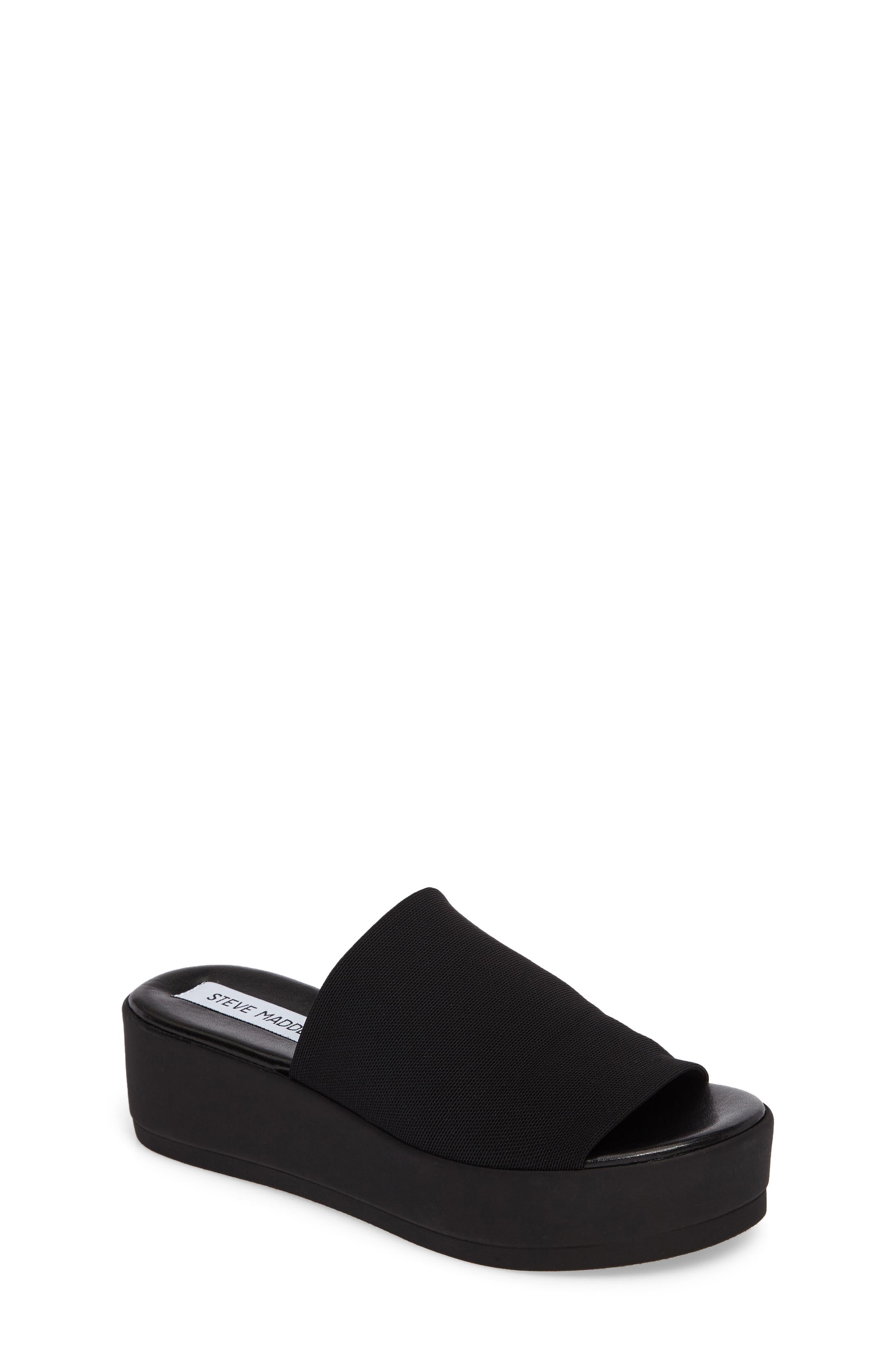 Jslinky Platform Slide Sandal,                             Main thumbnail 1, color,                             Black