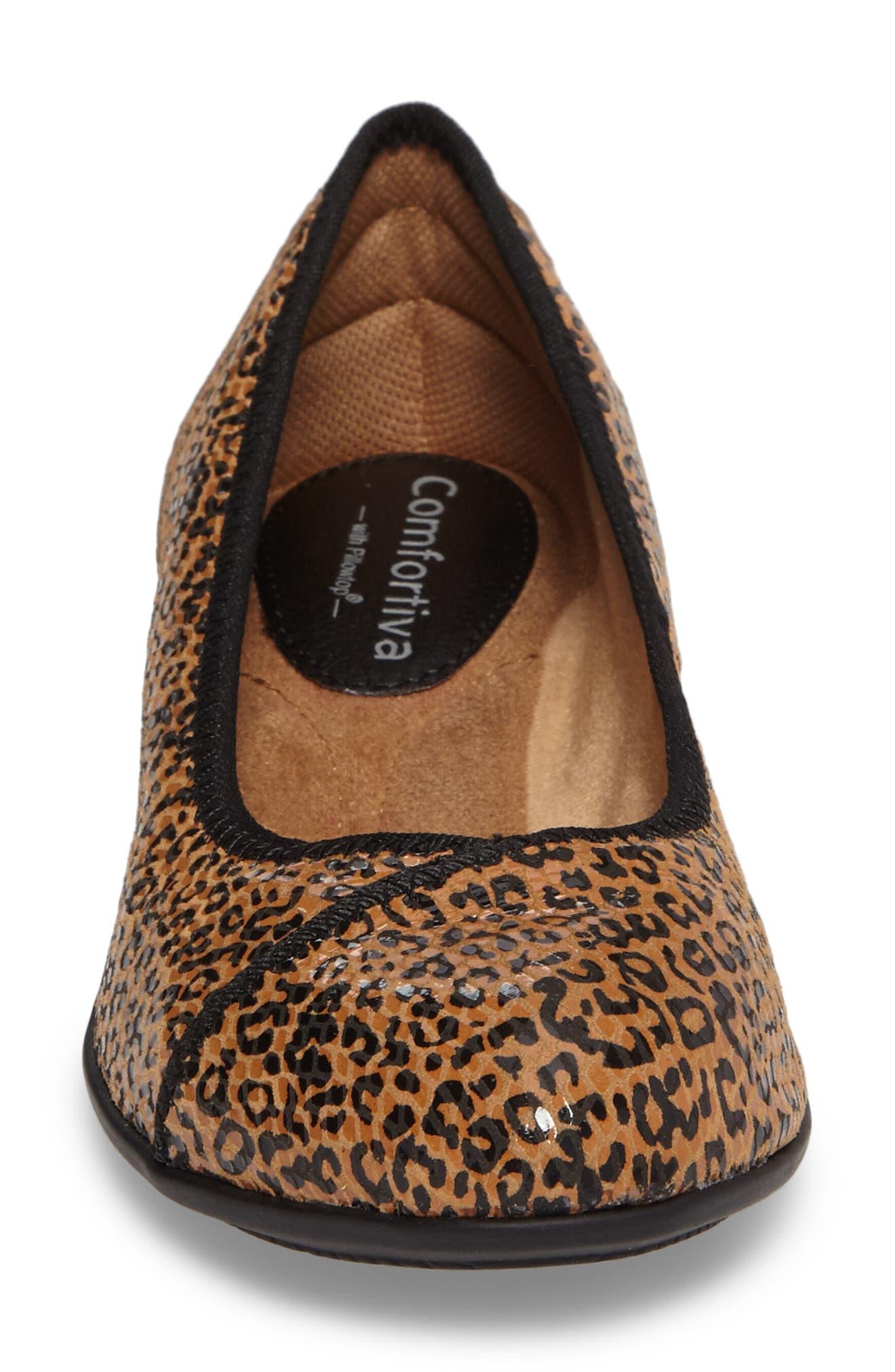 Eaton Flat,                             Alternate thumbnail 4, color,                             Tan Leopard Suede