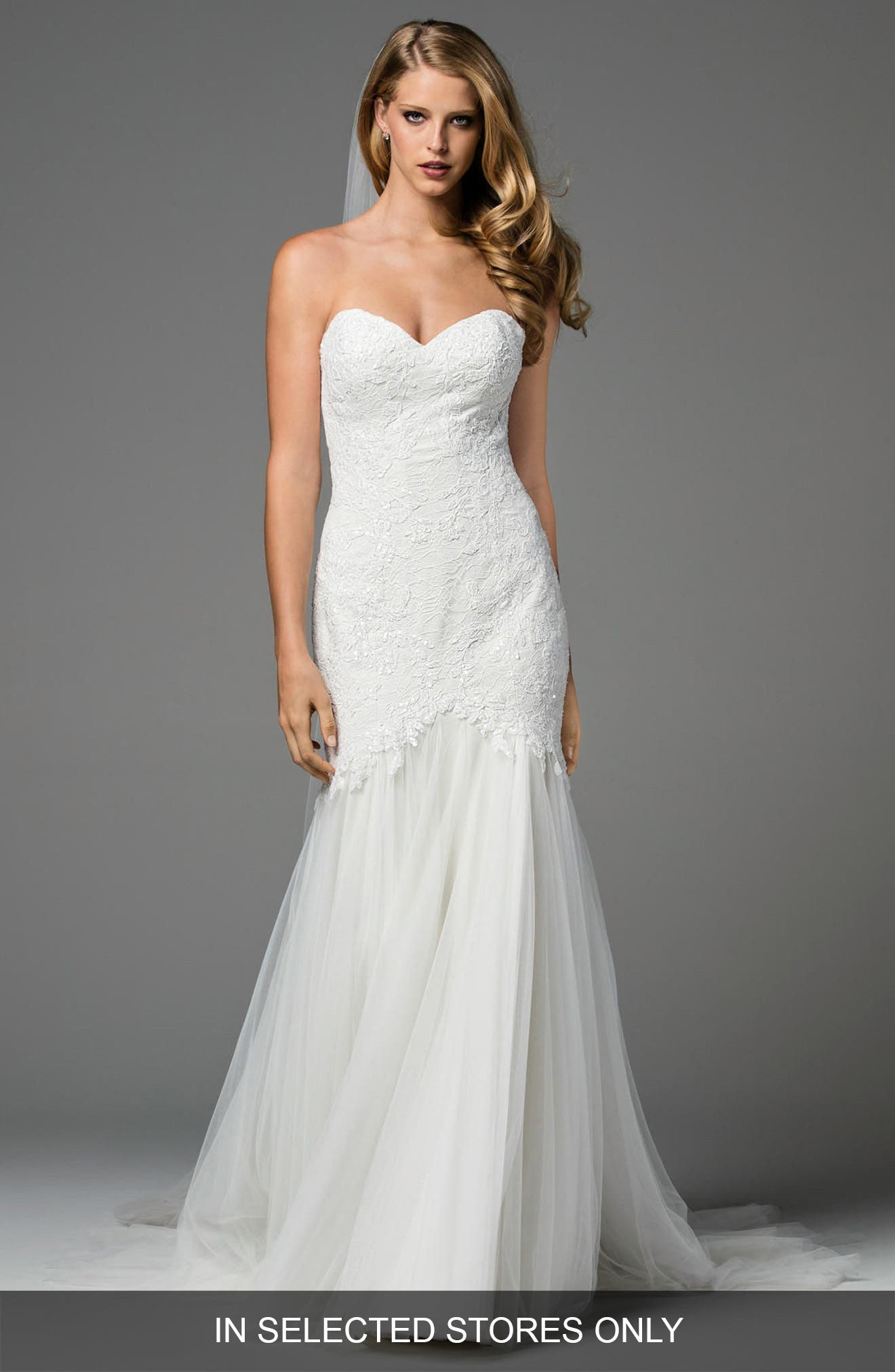 Arsene Embellished Chiffon Gown,                         Main,                         color, Ivory/ Oyster