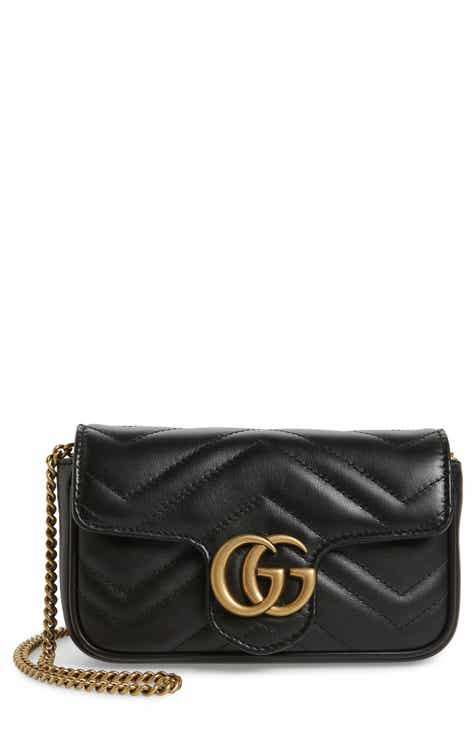 e737a0b47910 Gucci Supermini GG Marmont 2.0 Matelassé Leather Shoulder Bag