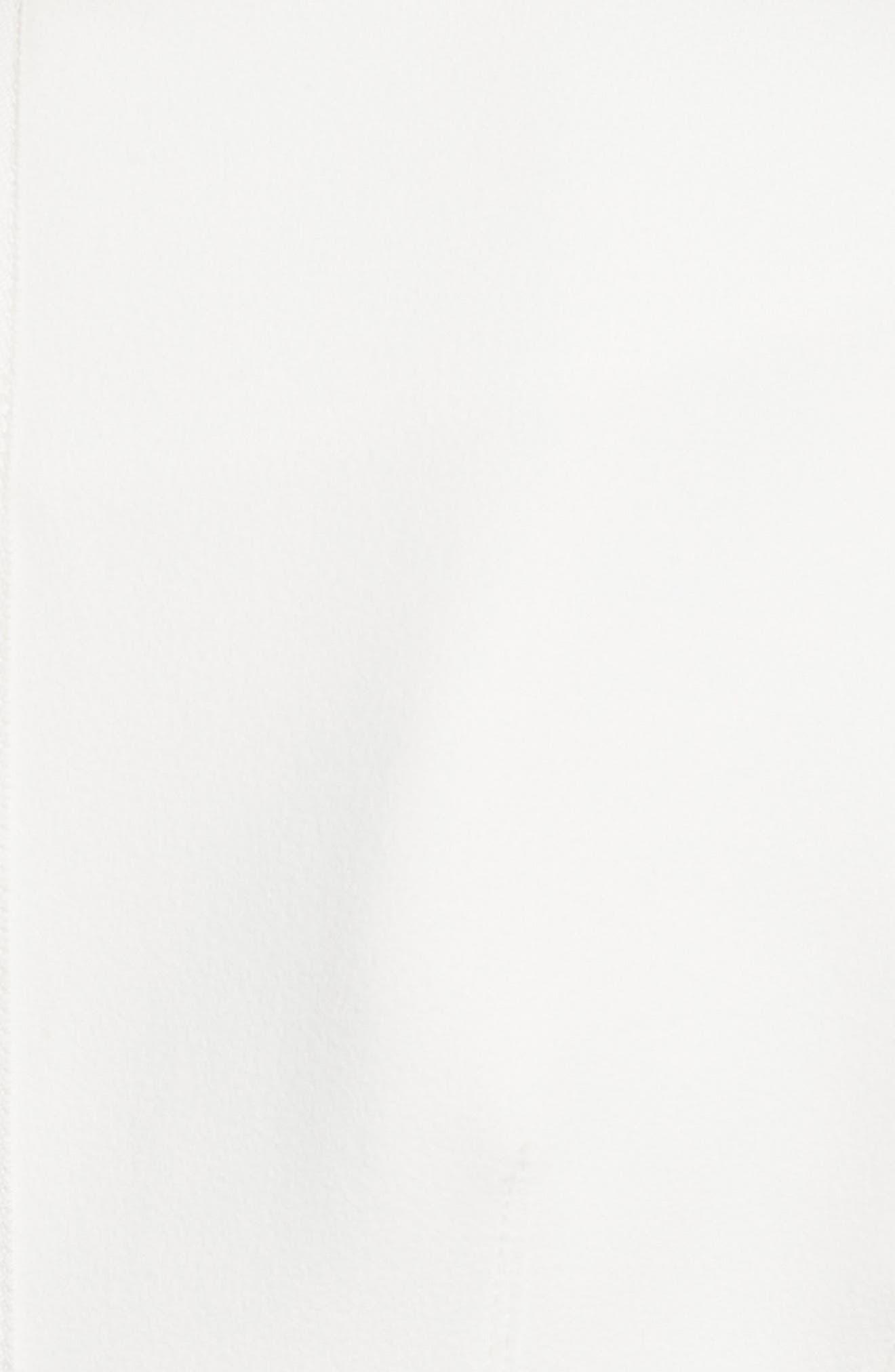 Stretch Crepe Corset Top,                             Alternate thumbnail 5, color,                             White