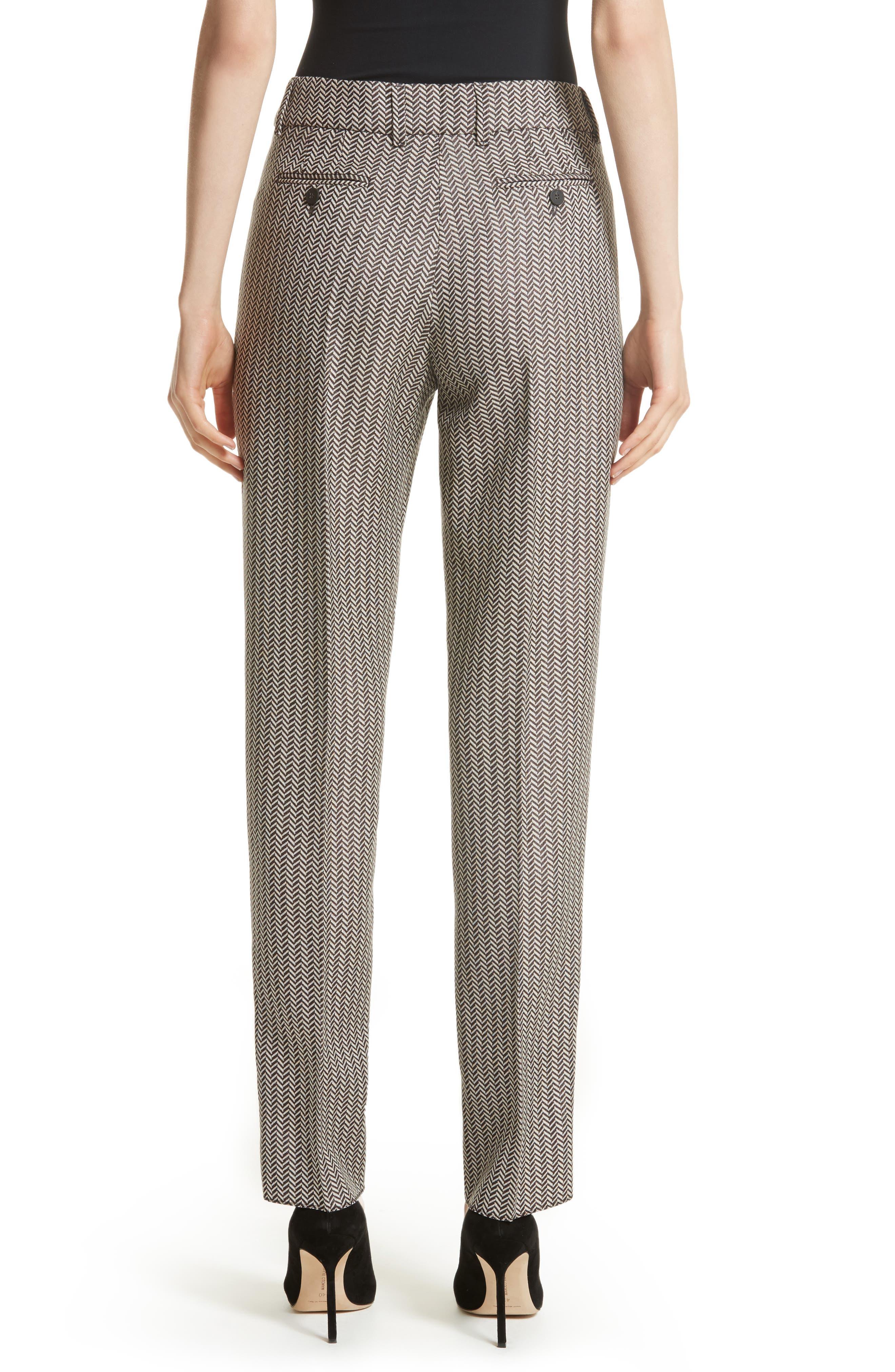 Alternate Image 2  - Armani Collezioni Herringbone Slim Pants