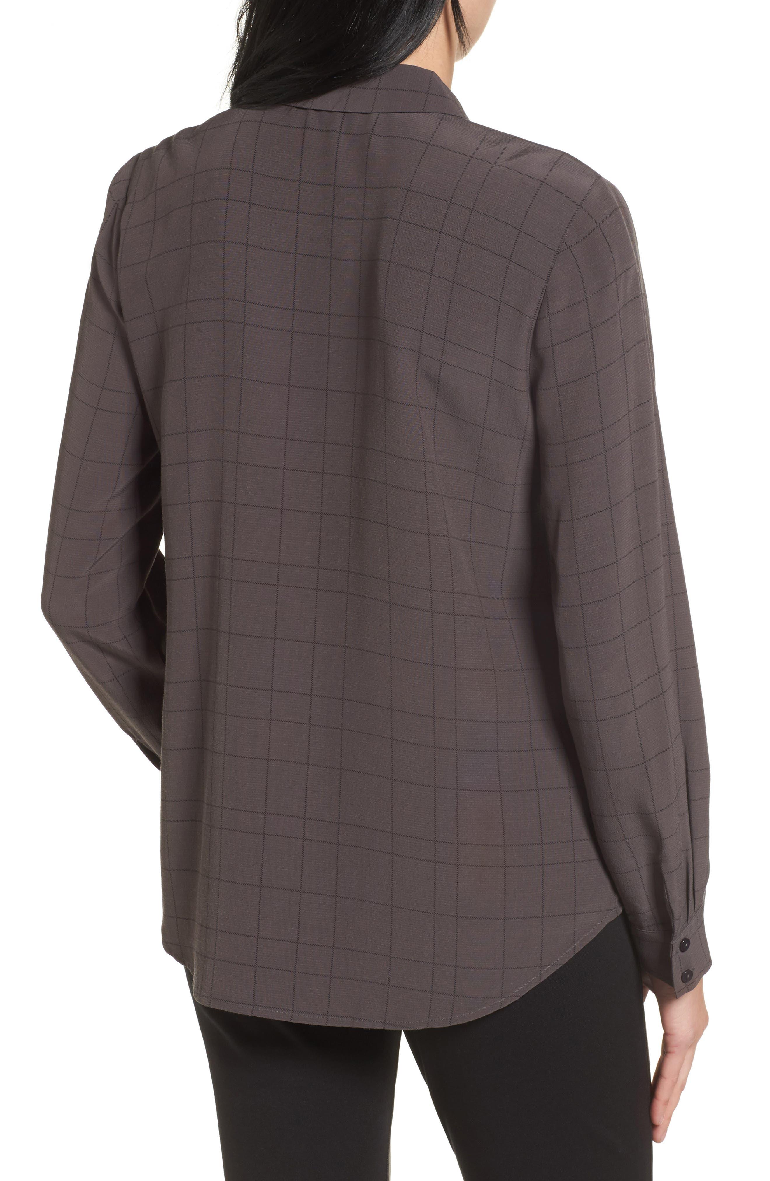 Alternate Image 2  - Eileen Fisher Windowpane Classic Collar Shirt
