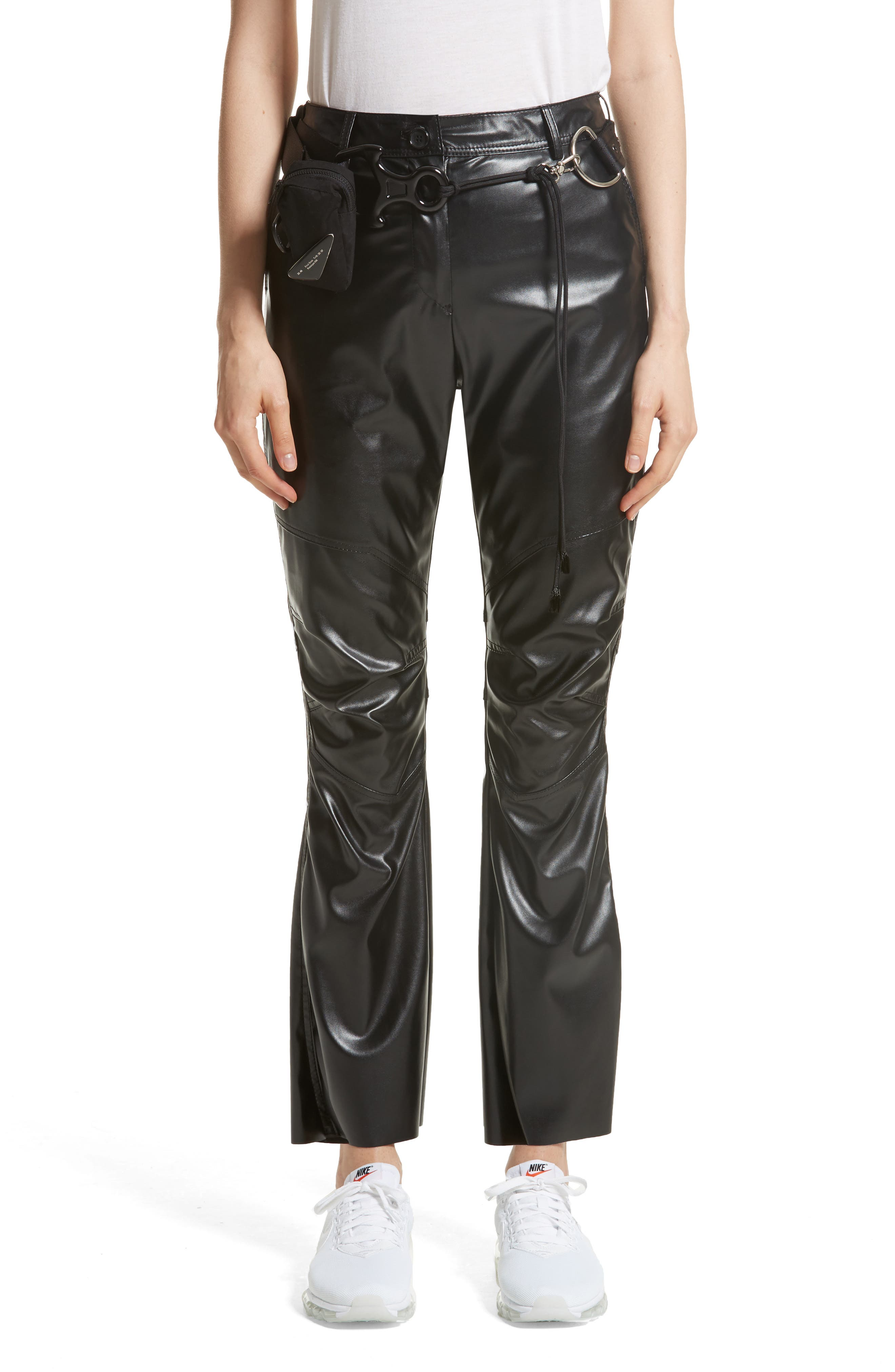 Hyein Seo Vinyl Pants with Military Belt