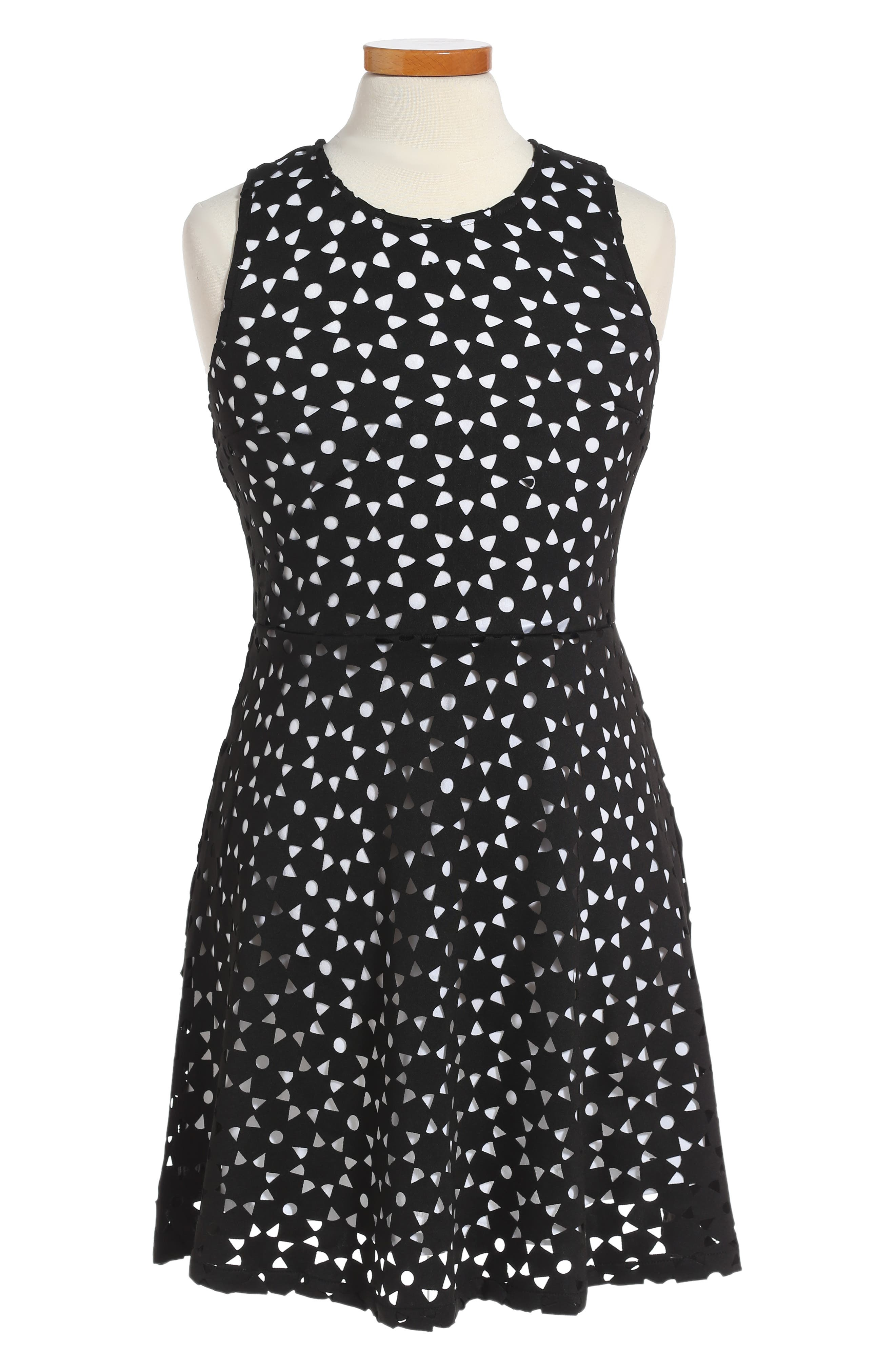 Ruby & Bloom Lasercut Sleeveless Dress (Big Girls)
