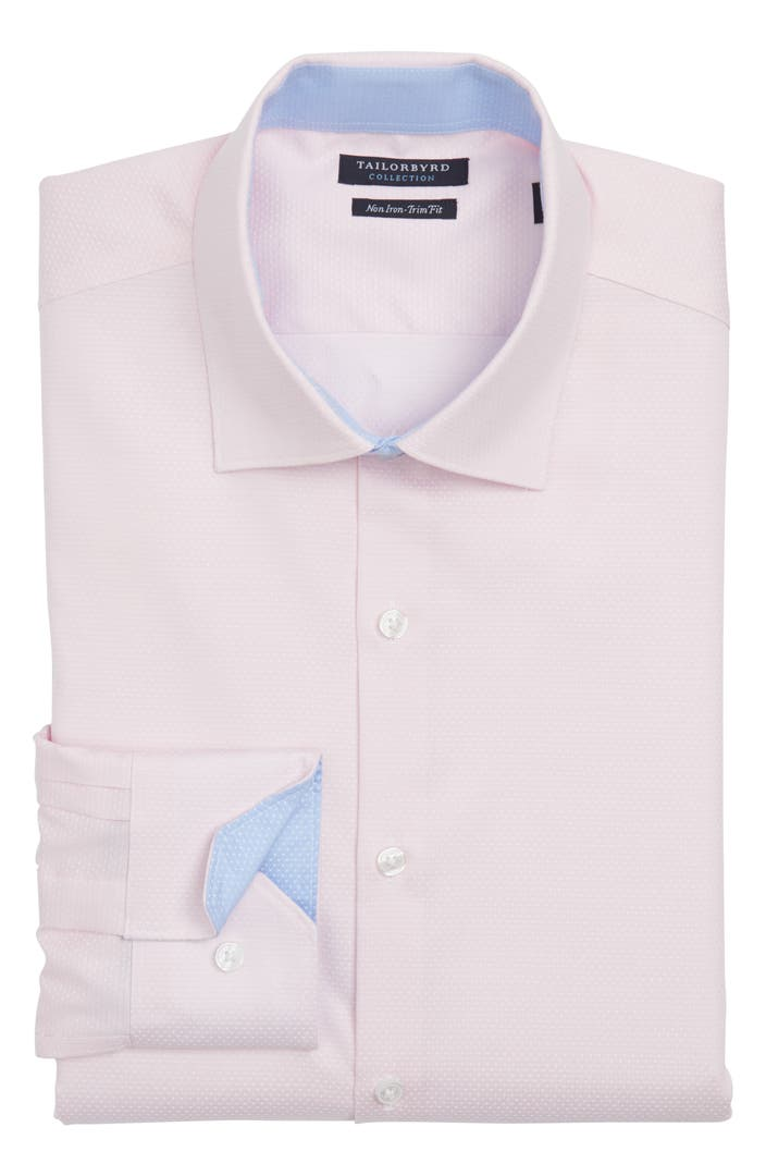 Tailorbyrd trim fit non iron dot dress shirt nordstrom for What is a non iron shirt