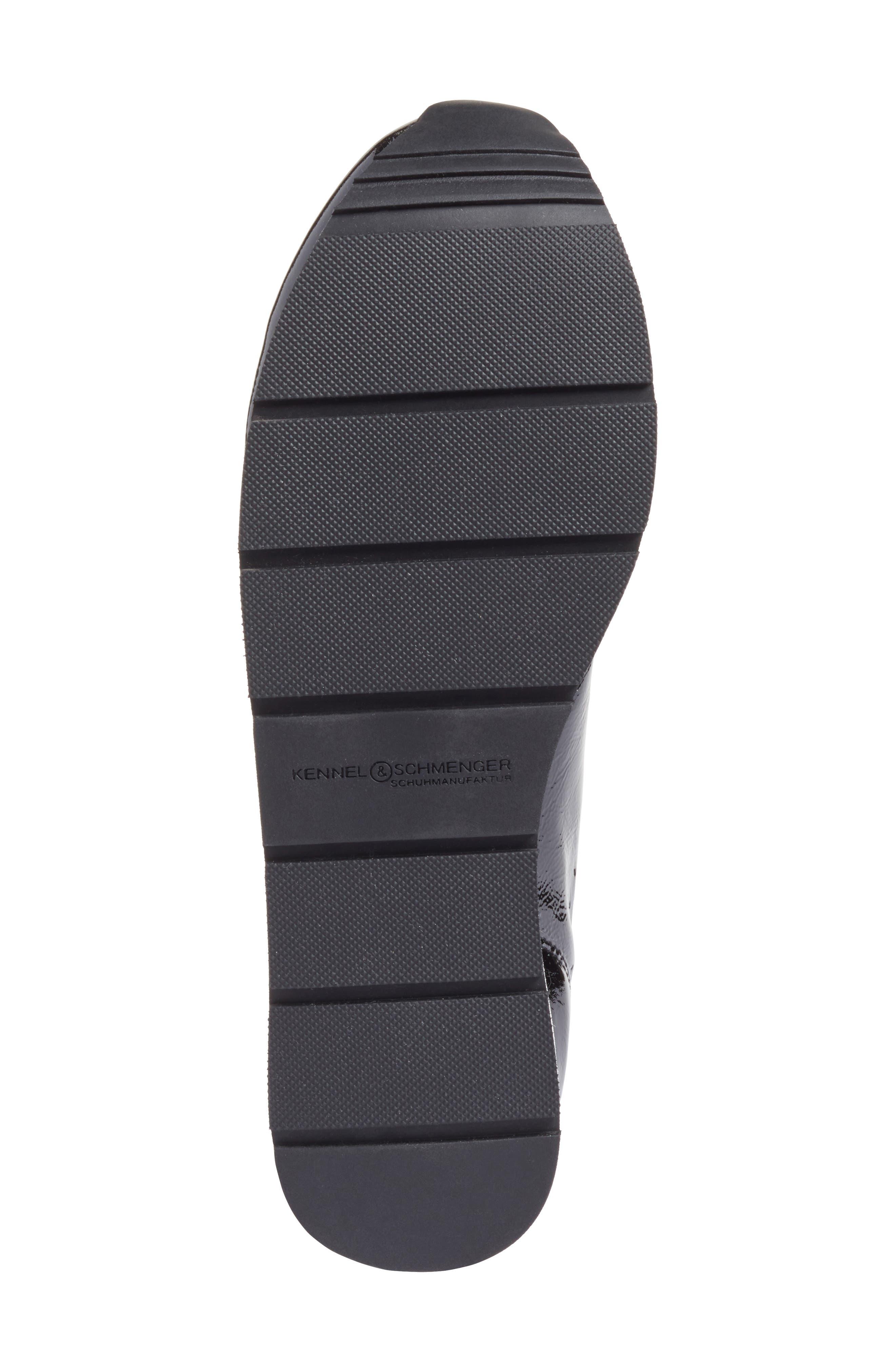 Kennel & Schmenger Nova Patent Leather Sneaker,                             Alternate thumbnail 6, color,                             Black