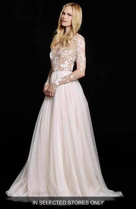 Hayley Paige Remmington Embellished English Net Gown