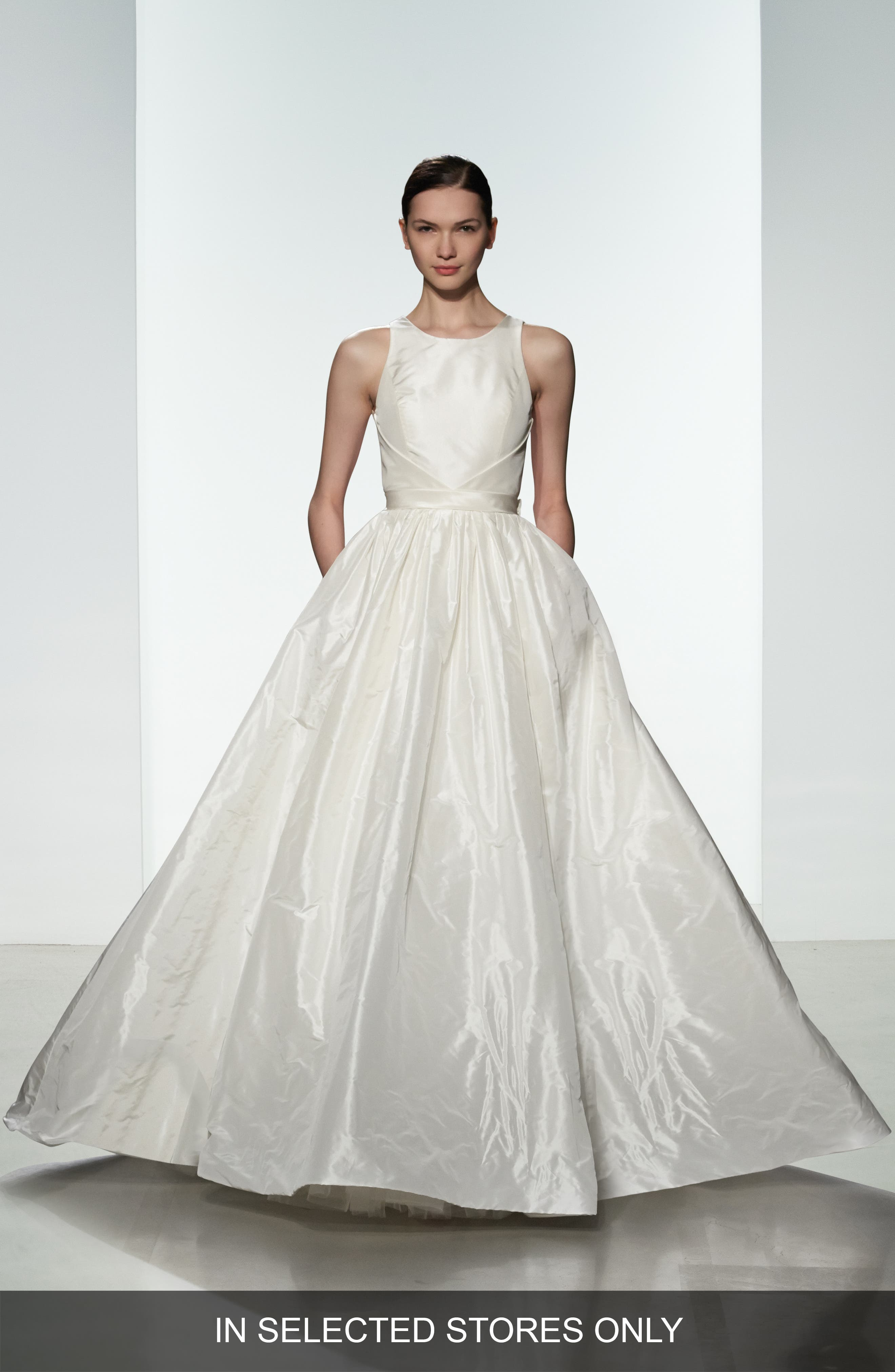 Alternate Image 1 Selected - nouvelle AMSALE Troy Open Back Silk Taffeta Ballgown