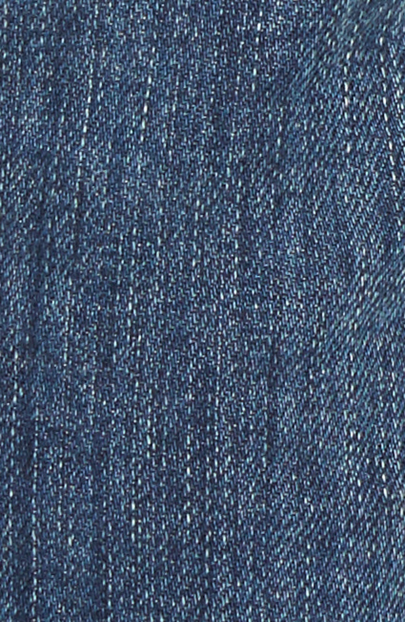 Alternate Image 5  - Current/Elliott The Cropped Straight Released Hem Jeans