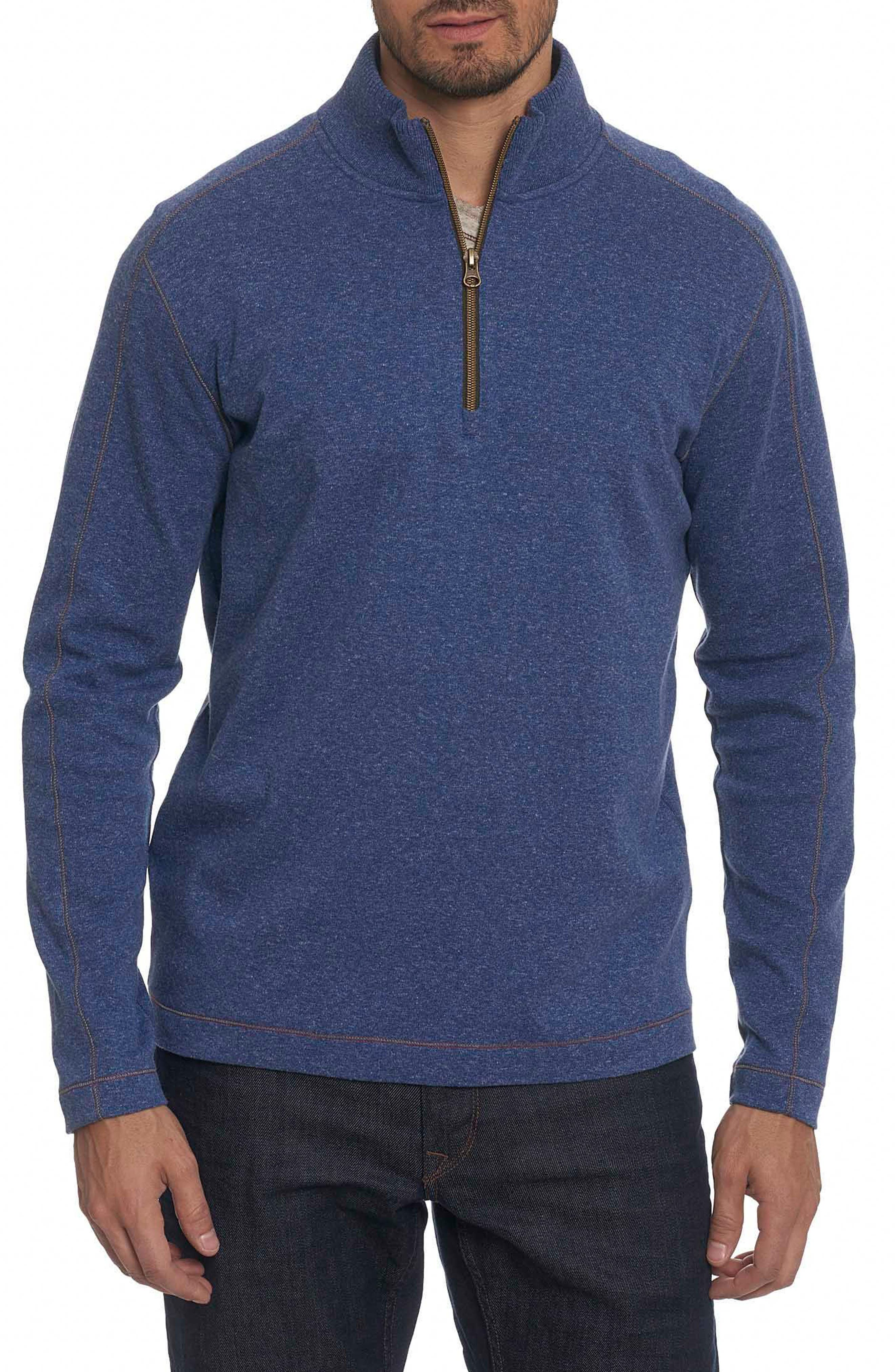 'Elia' Regular Fit Quarter Zip Pullover,                         Main,                         color, Heath Med Blue
