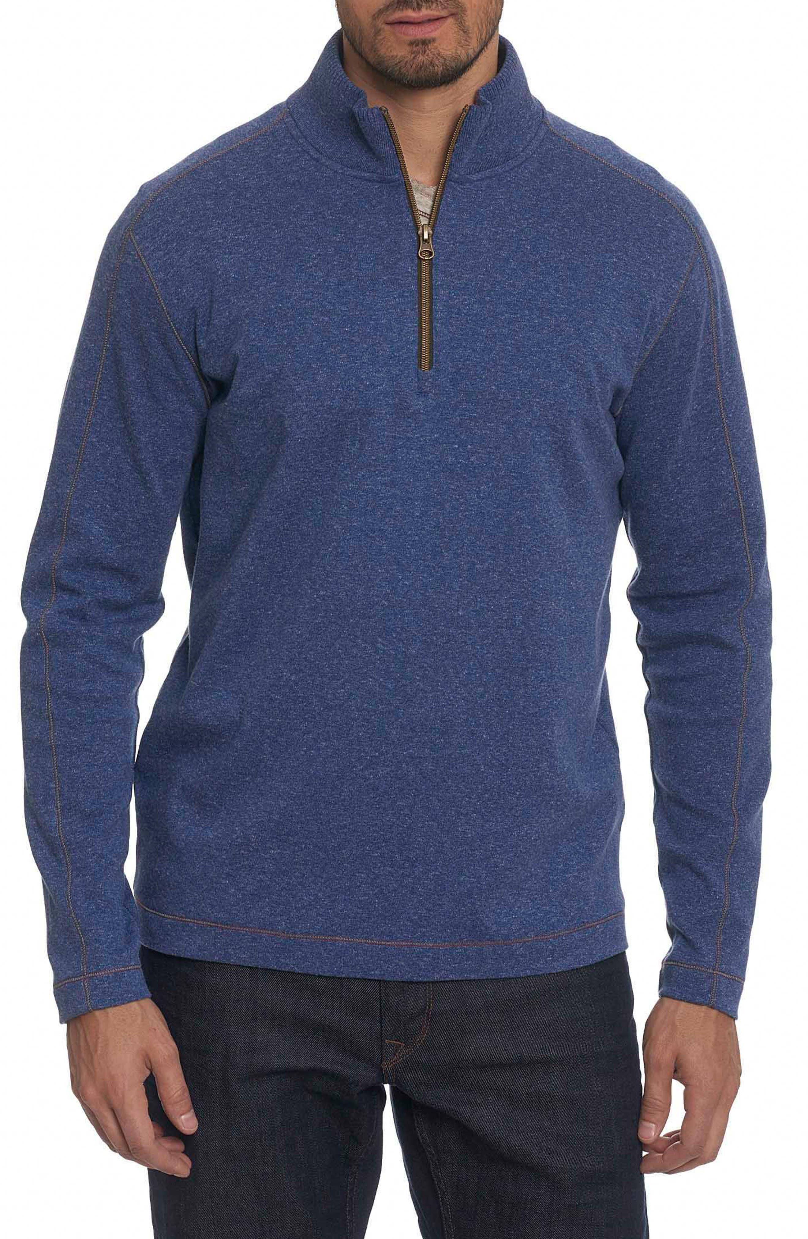 Robert Graham 'Elia' Regular Fit Quarter Zip Pullover