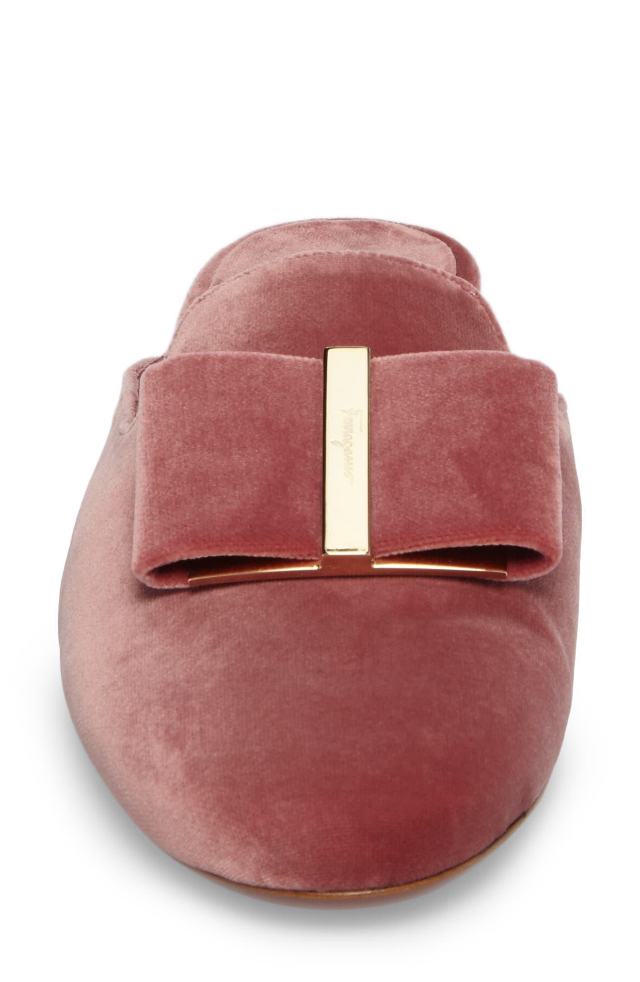 Backless Loafer Mule,                             Alternate thumbnail 4, color,                             New Griotte Velvet