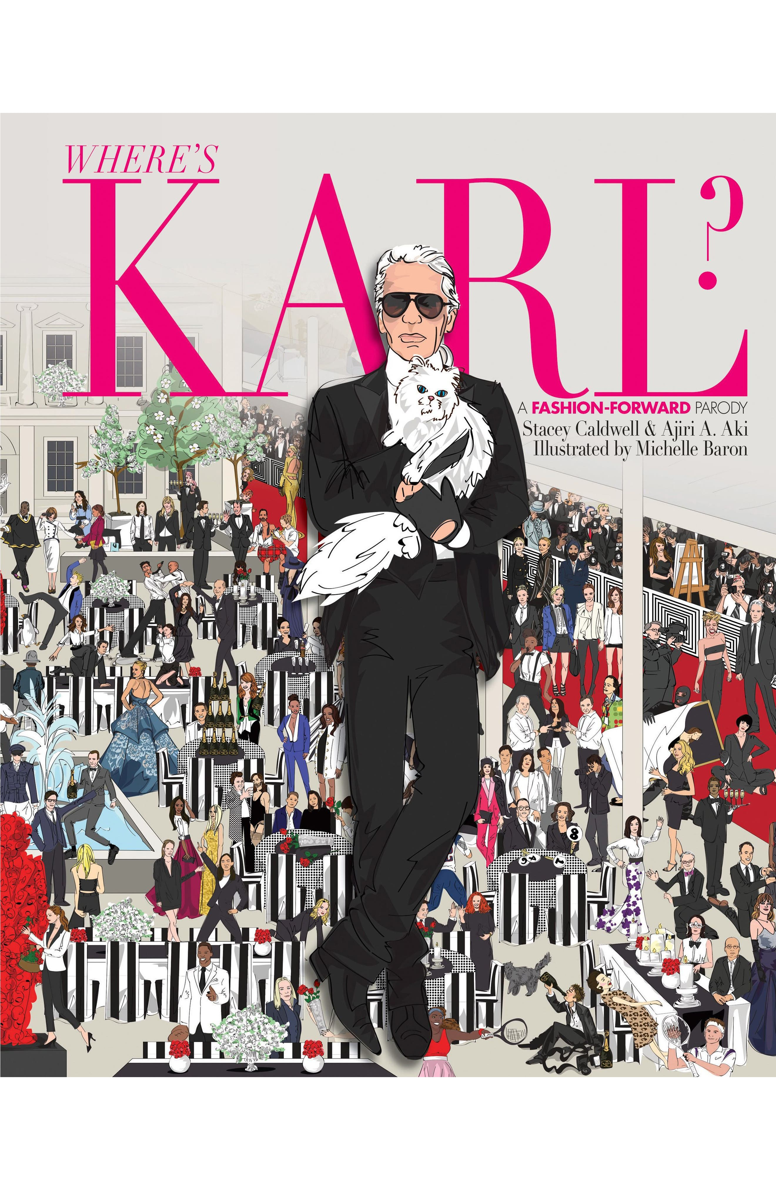 Where's Karl?: A Fashion-Forward Parody Book,                         Main,                         color, Pink
