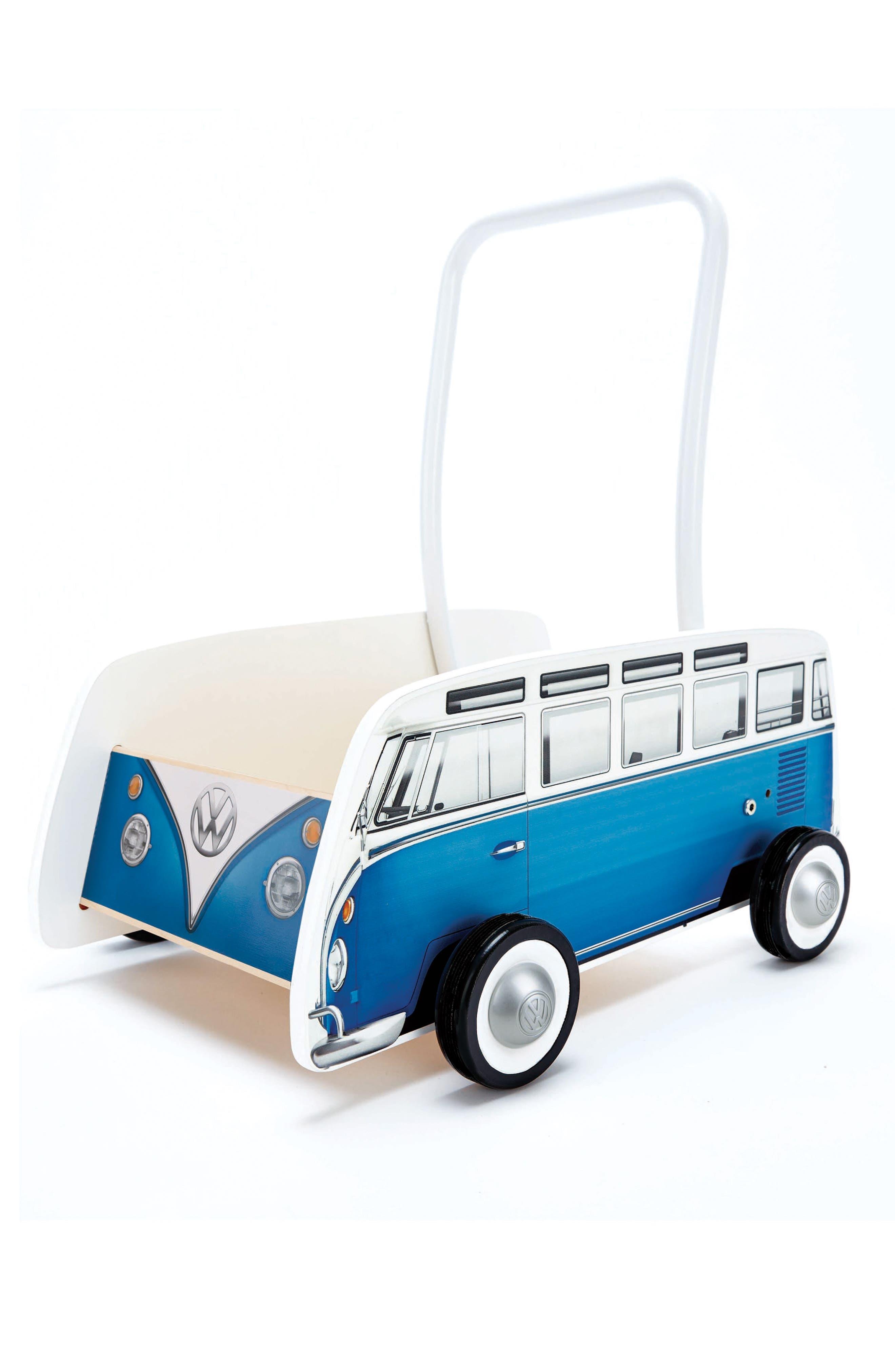 Classical VW Push Bus,                         Main,                         color, Blue
