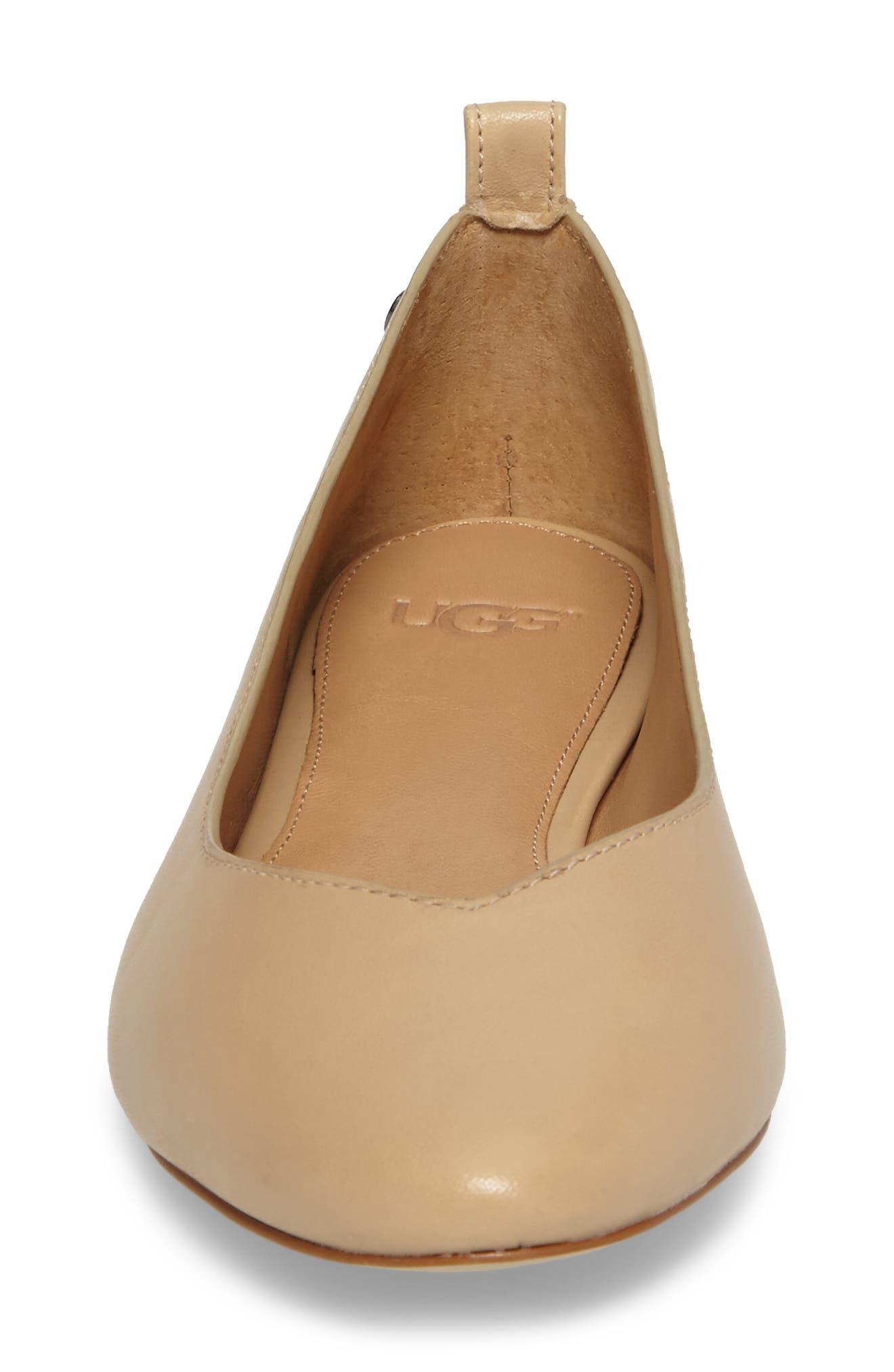 Alternate Image 4  - UGG® Lynley Ballerina Flat (Women)