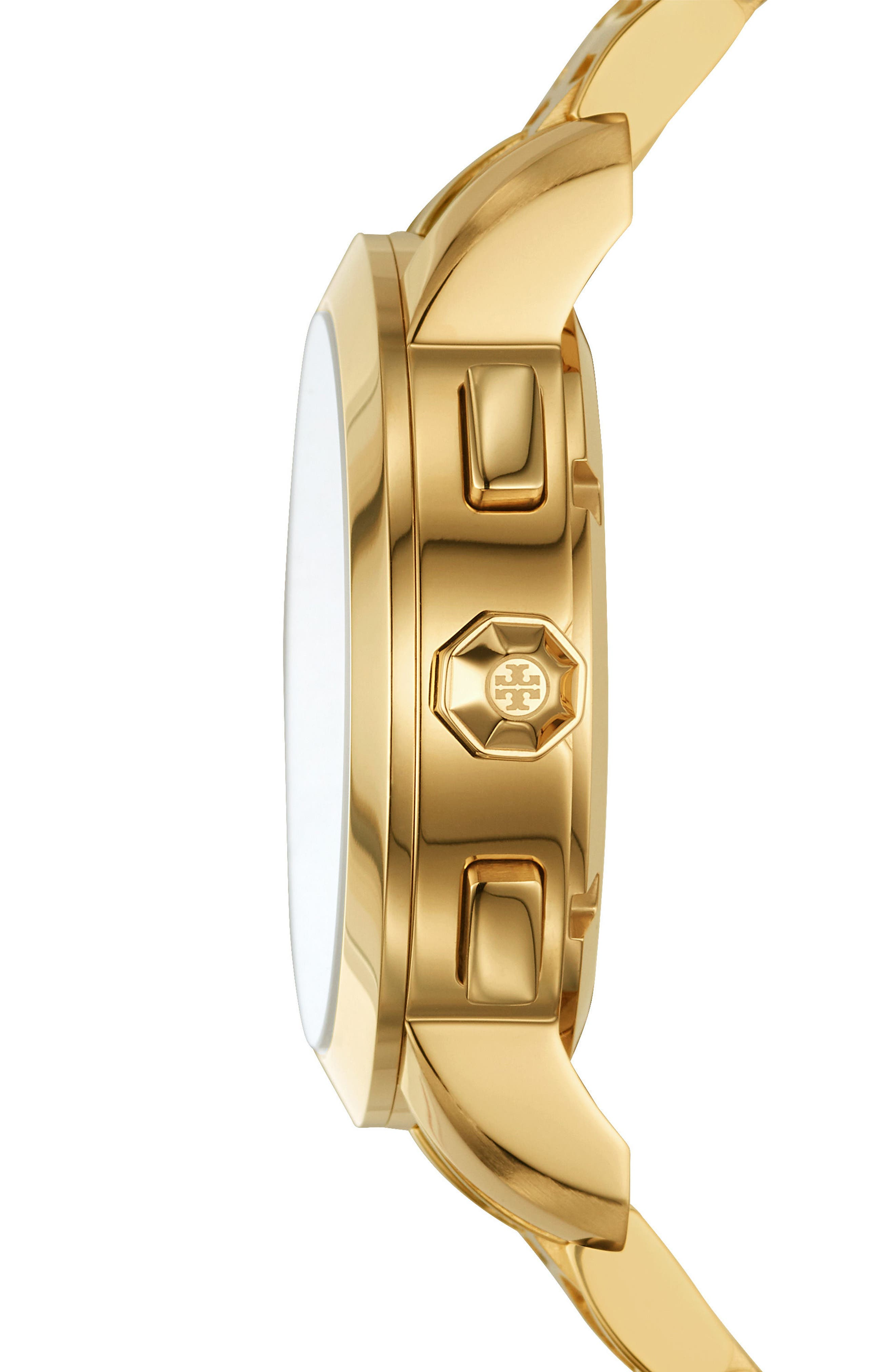 Classic Chronograph Bracelet Watch, 37.5mm,                             Alternate thumbnail 2, color,                             Gold/ Ivory/ Gold