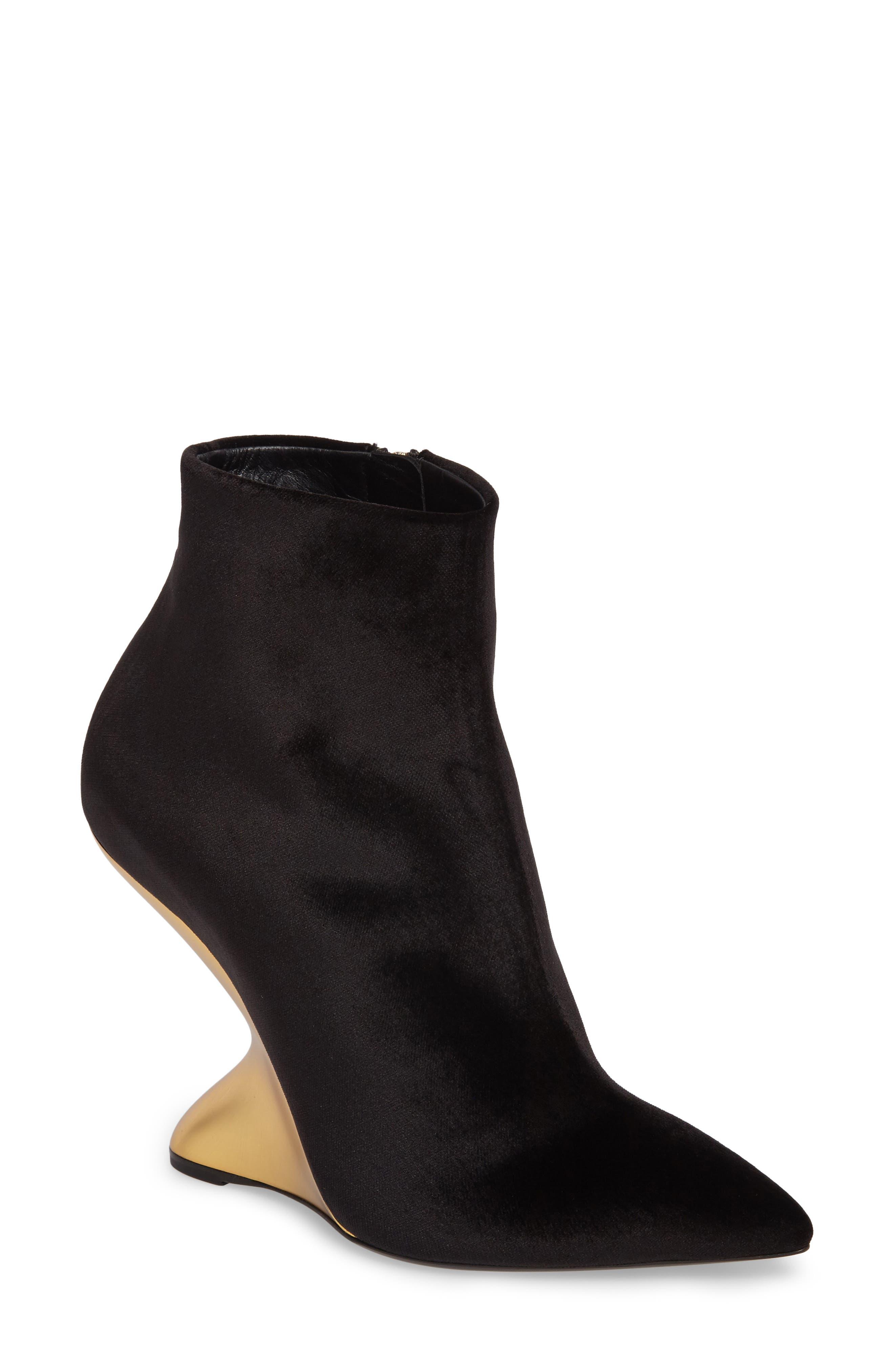Bolgheri Bootie,                         Main,                         color, Black Velvet