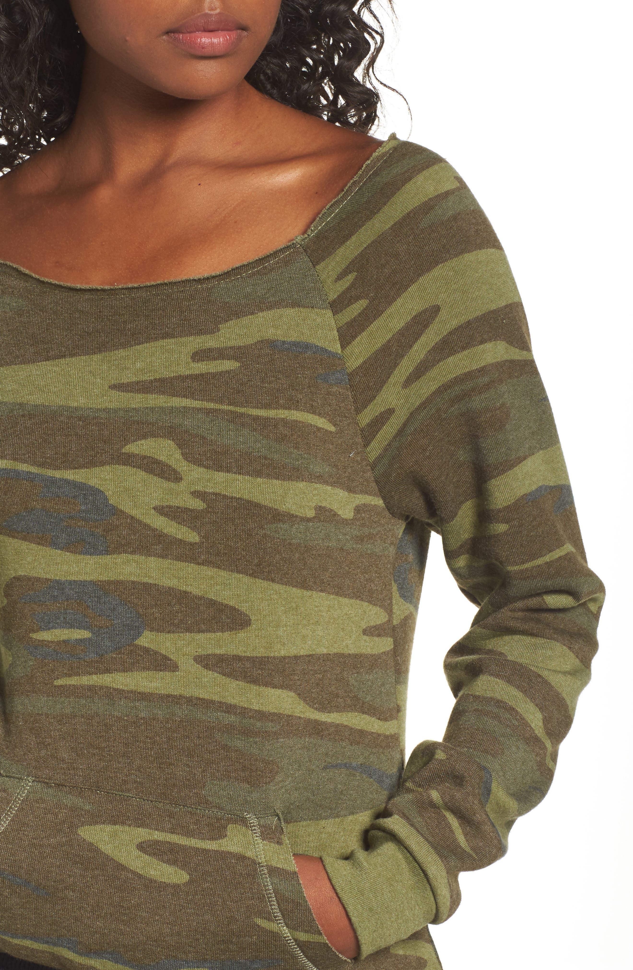 Alternate Image 5  - Alternative Maniac Camo Fleece Sweatshirt