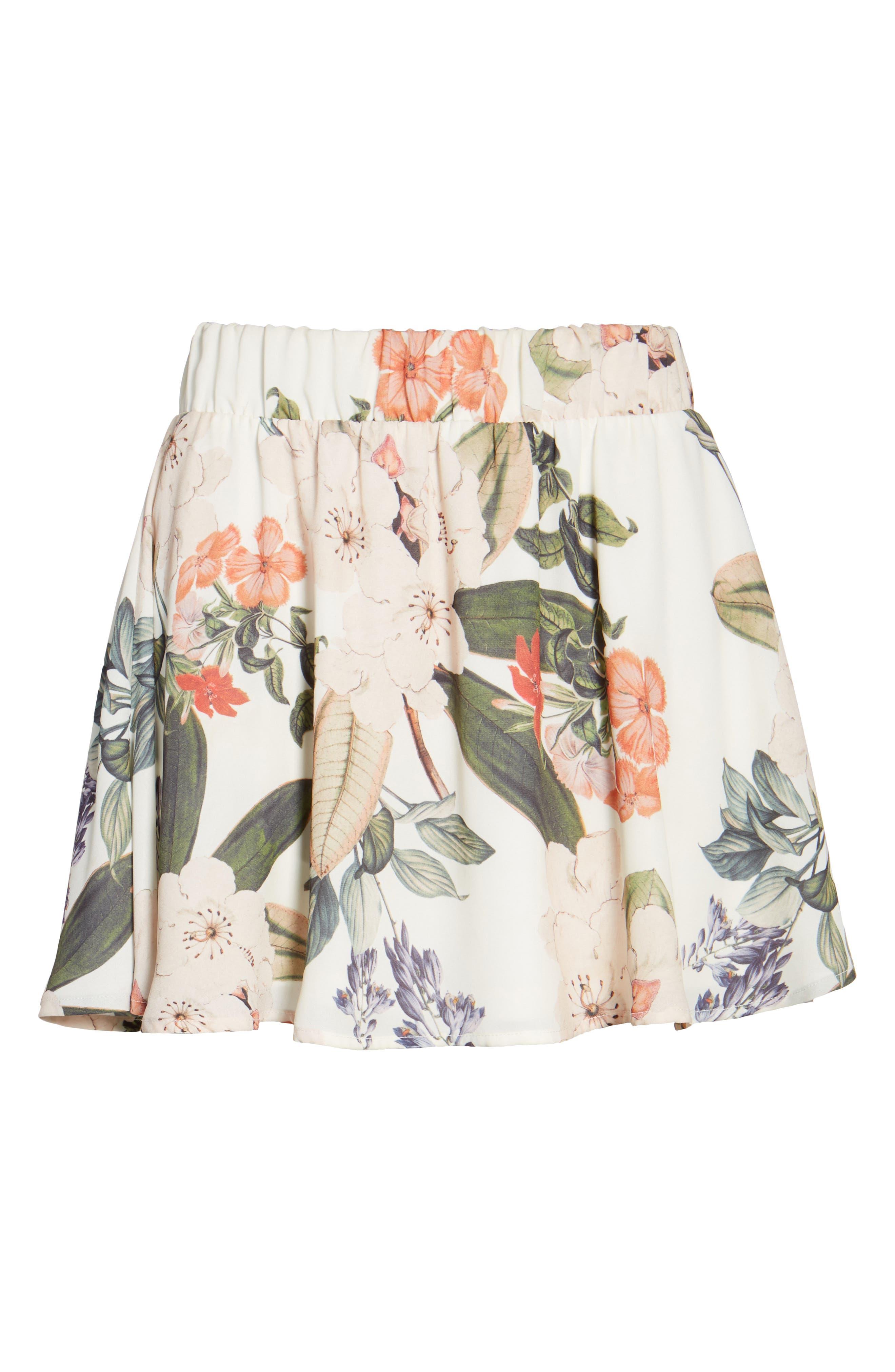Carlita Miniskirt,                             Alternate thumbnail 6, color,                             Enchanted Florist
