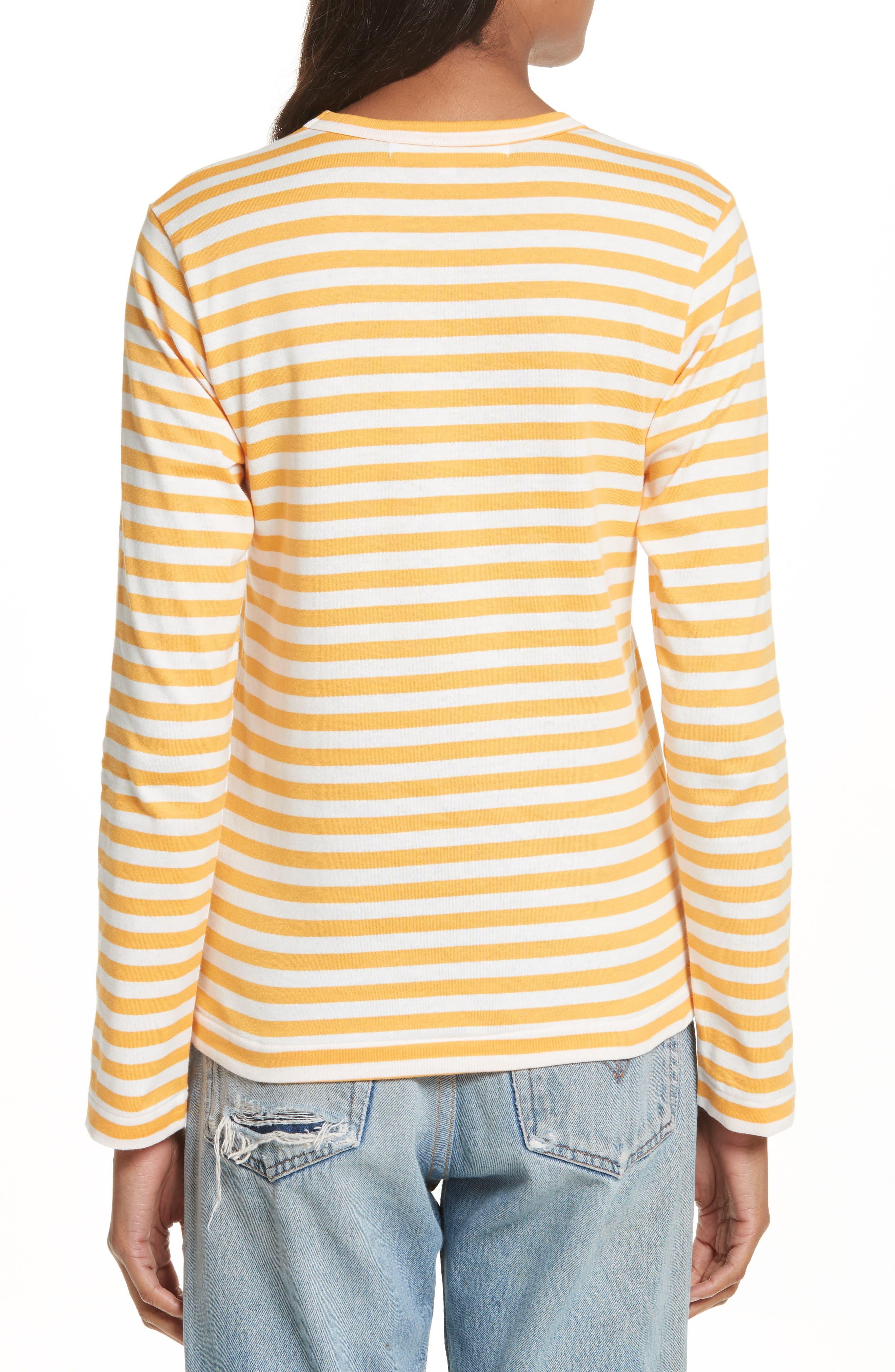 Alternate Image 2  - Comme des Garçons PLAY Stripe Cotton Tee