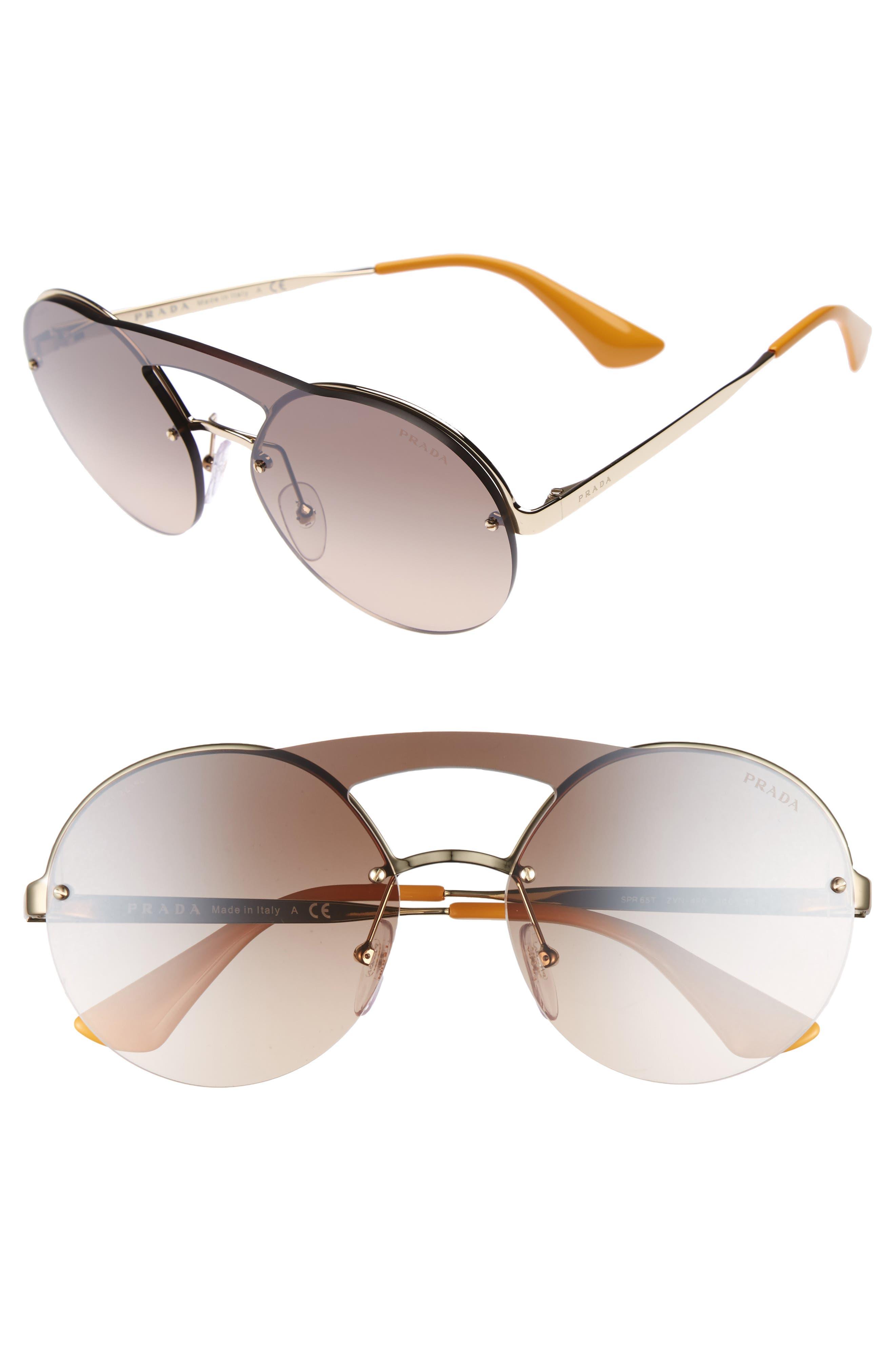 Alternate Image 1 Selected - Prada 60mm Rimless Shield Sunglasses