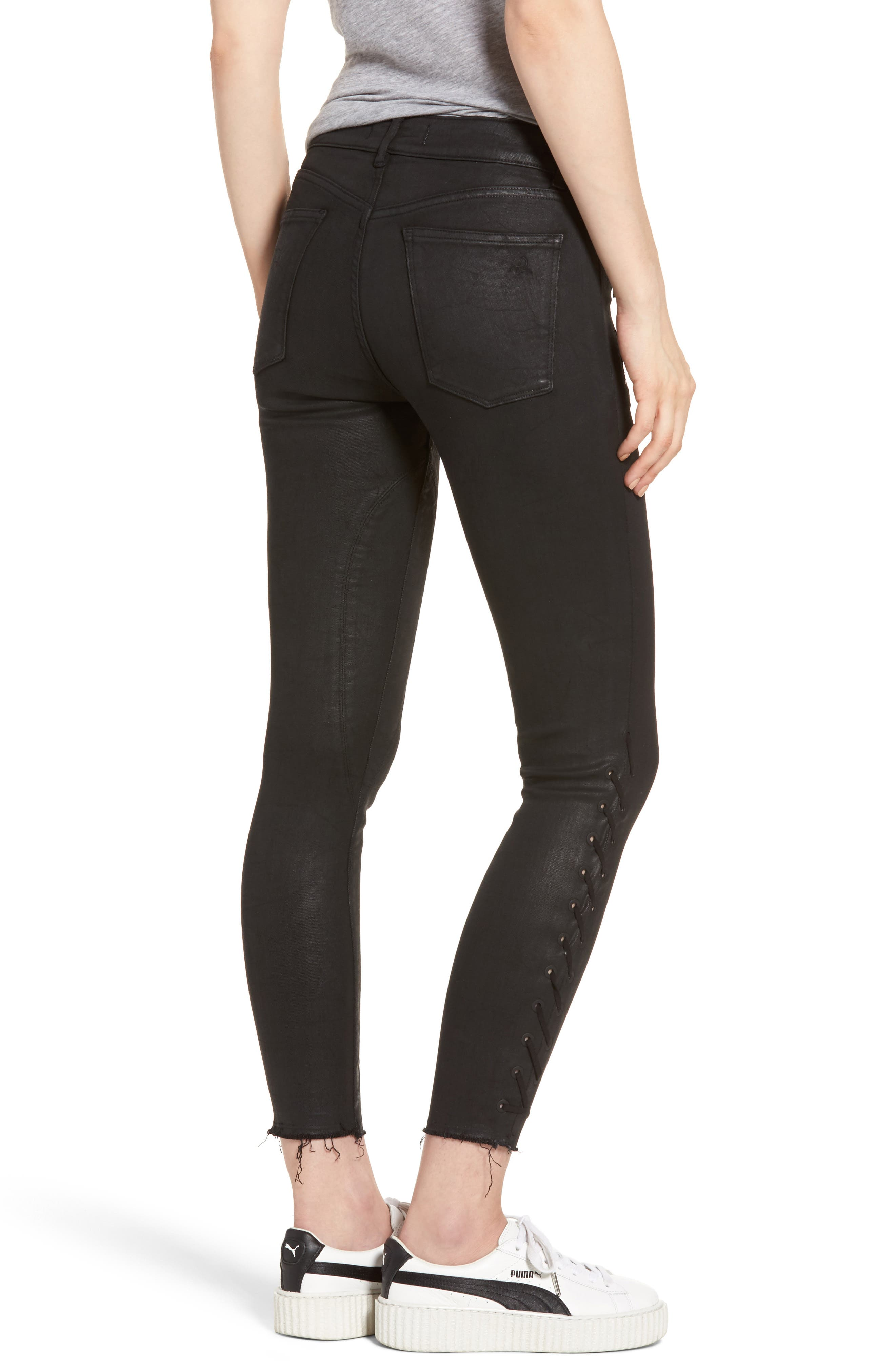 Florence Instasculpt Ankle Skinny Jeans,                             Alternate thumbnail 2, color,                             Sediment