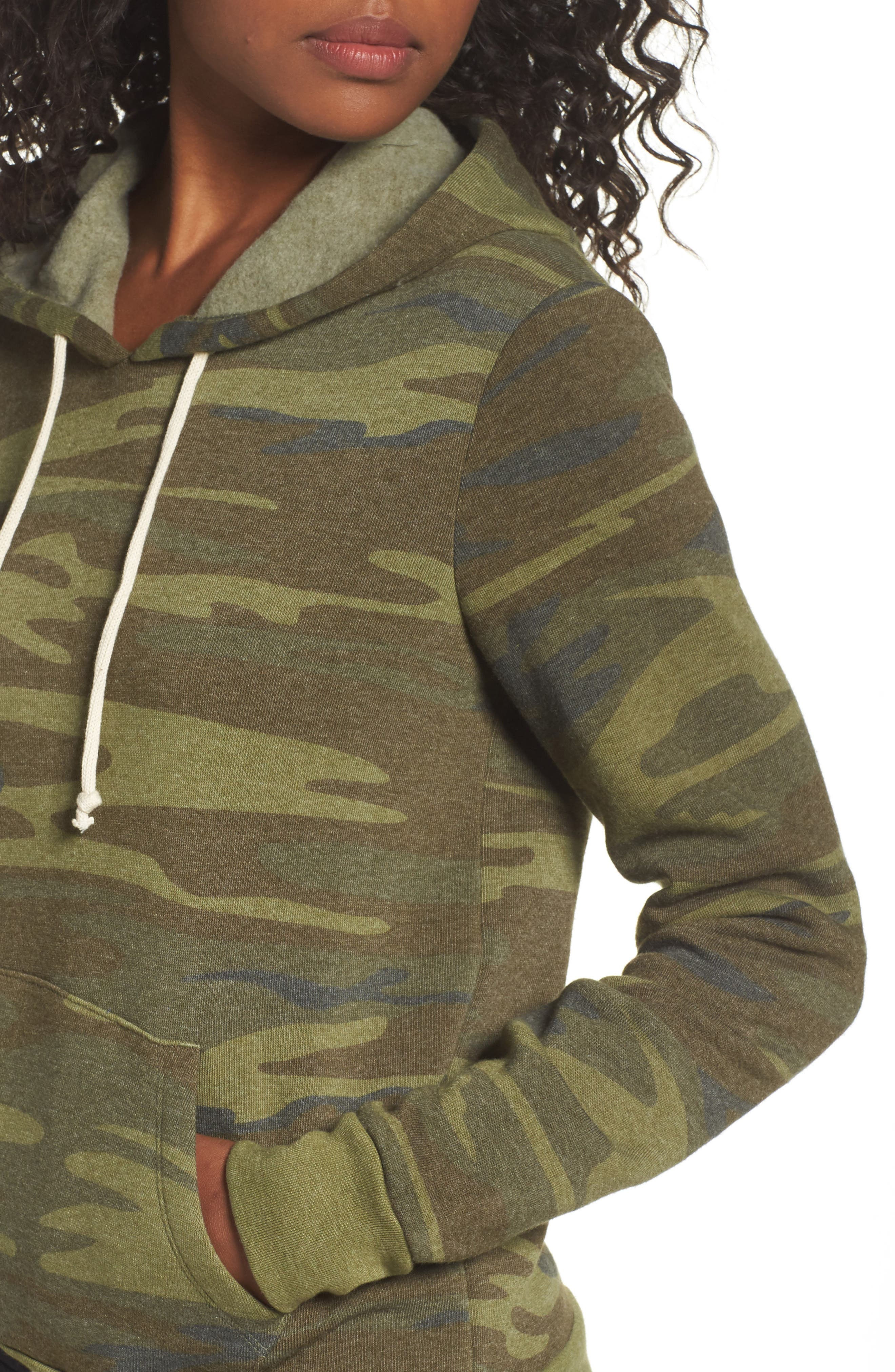 Camo Pullover Hoodie,                             Alternate thumbnail 5, color,                             Camo