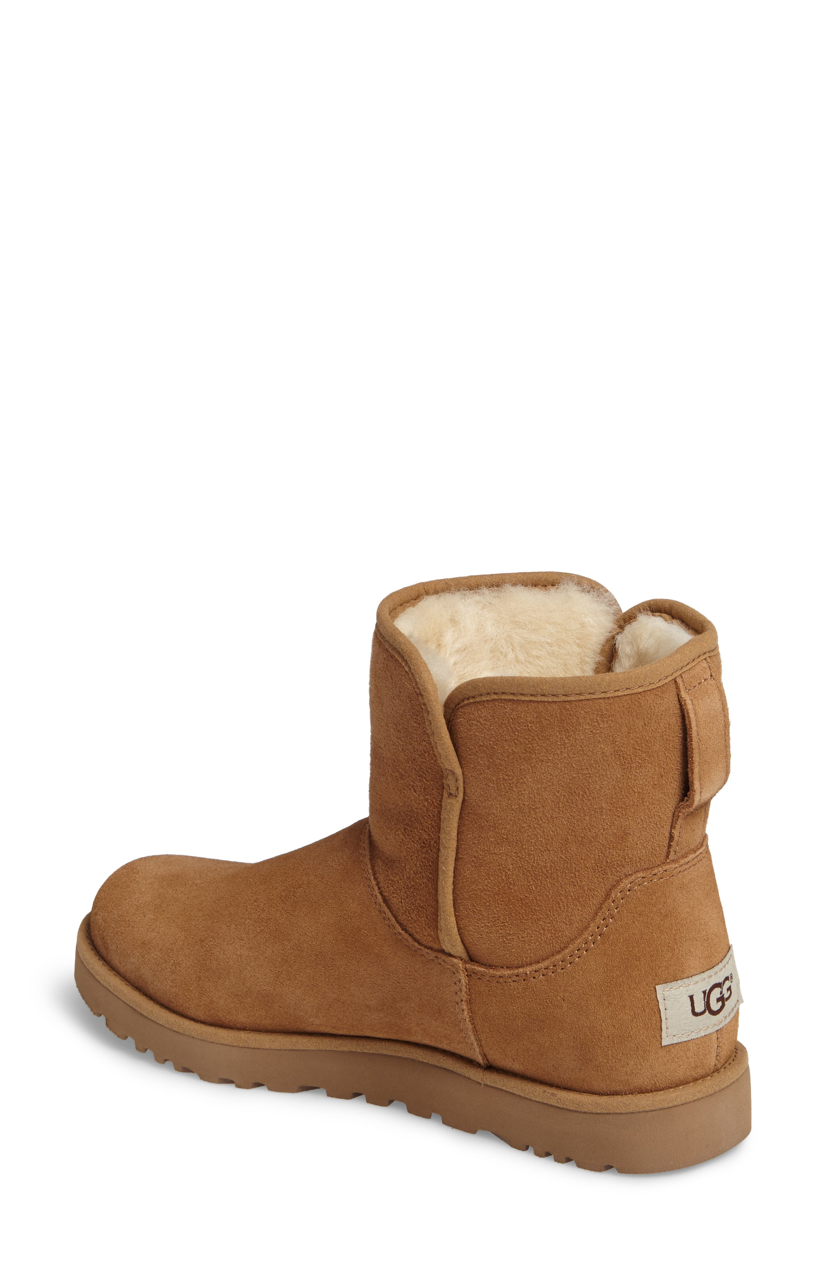 'Cory' Short Boot,                             Alternate thumbnail 2, color,                             Chestnut Suede