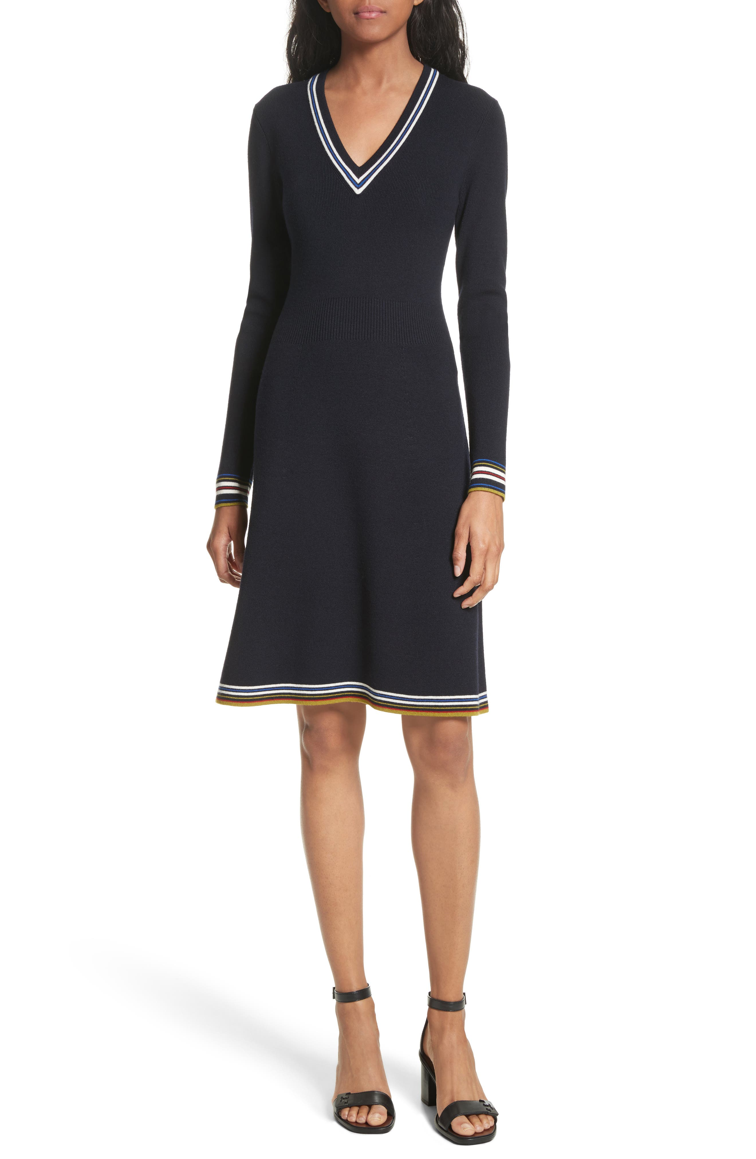 Main Image - Tory Burch Lara Sweater Dress