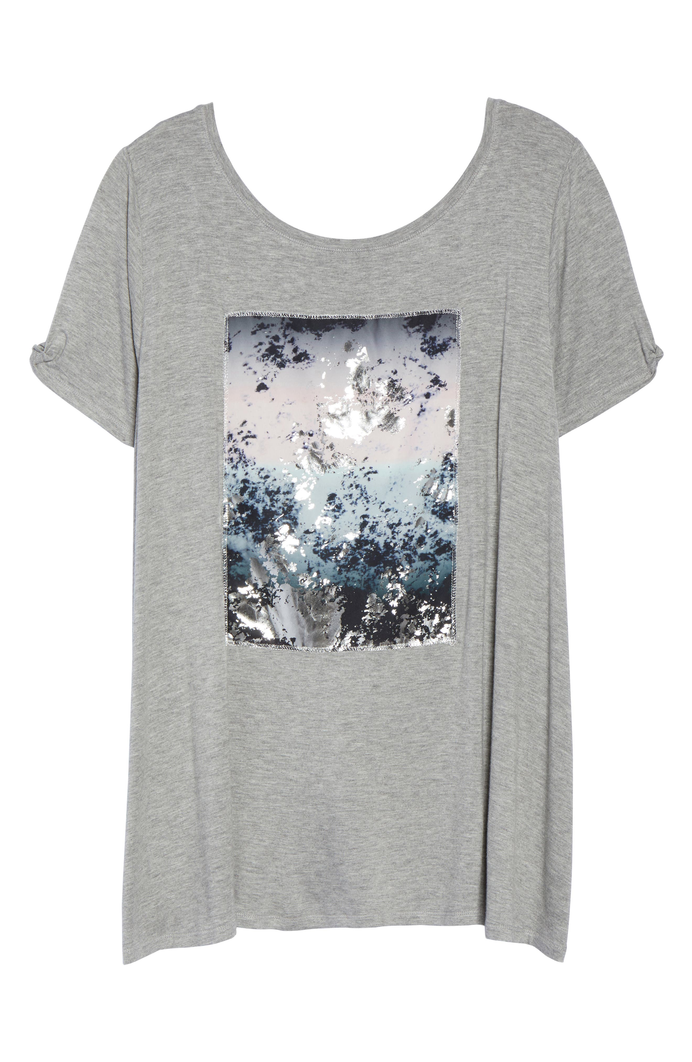 Graphic Swing Tee,                             Alternate thumbnail 6, color,                             Light Heather Grey