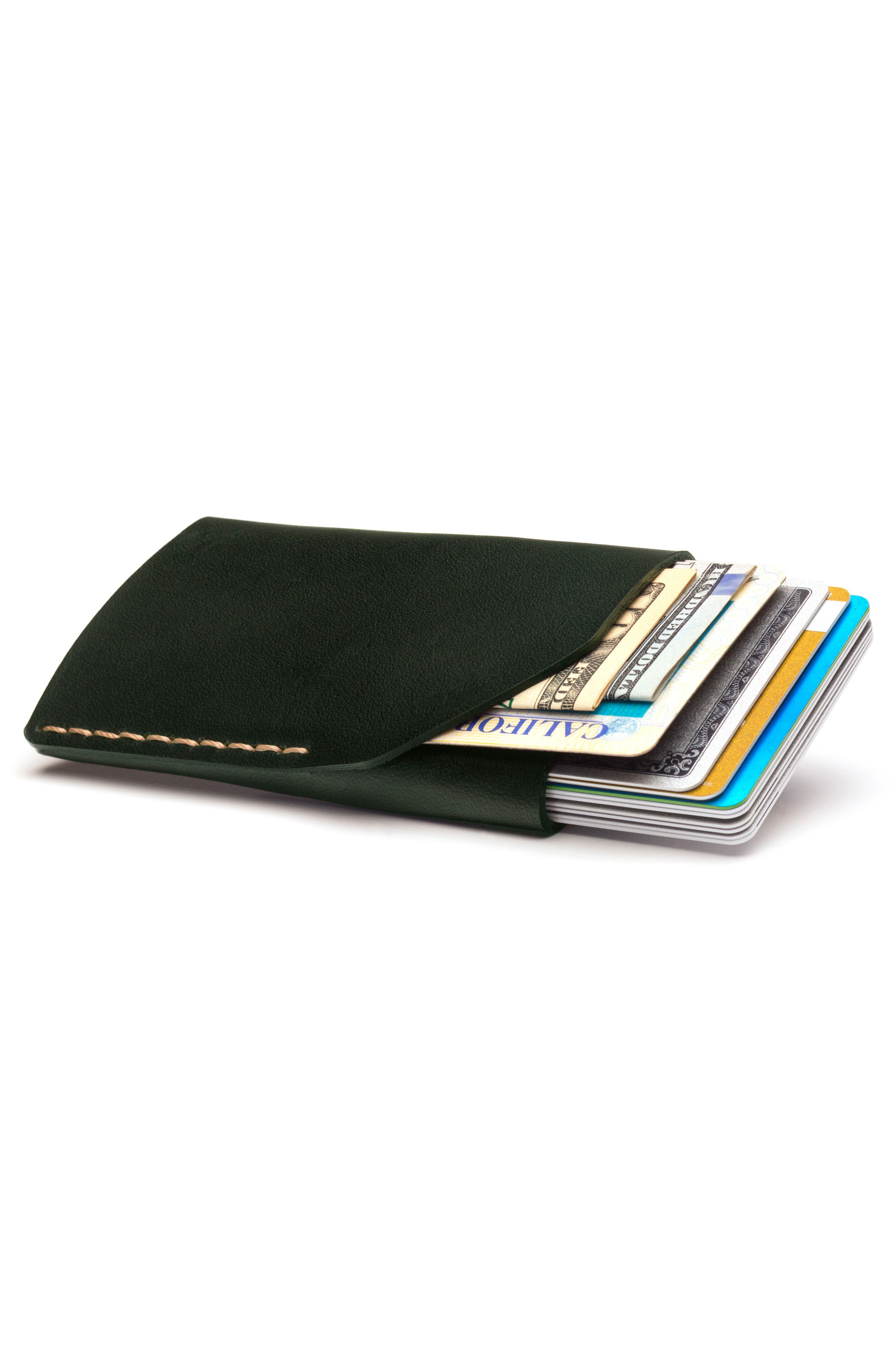 No. 2 Leather Card Case,                             Alternate thumbnail 2, color,                             Green