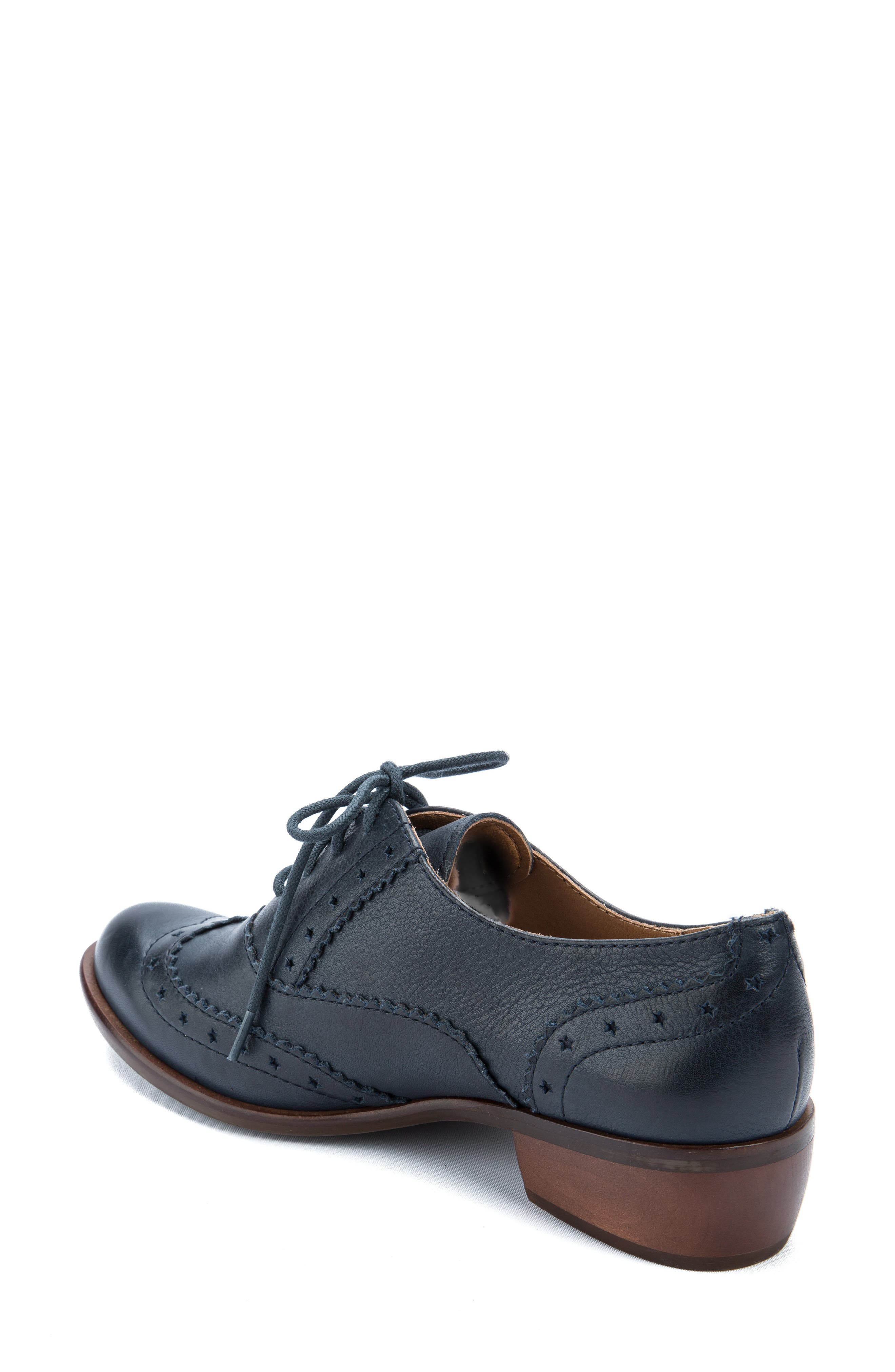 Heart Lace-Up Loafer,                             Alternate thumbnail 2, color,                             Navy