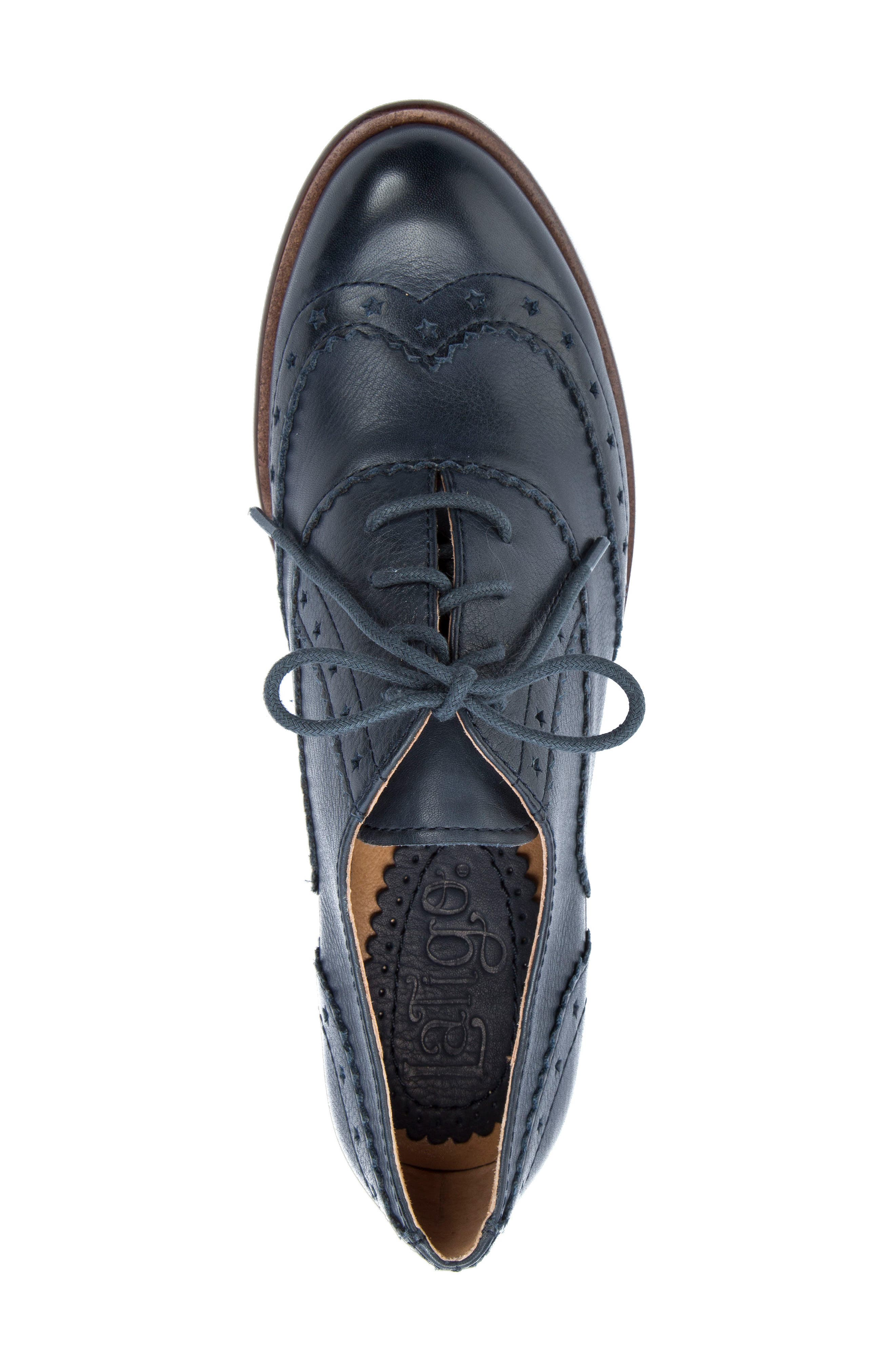 Heart Lace-Up Loafer,                             Alternate thumbnail 5, color,                             Navy