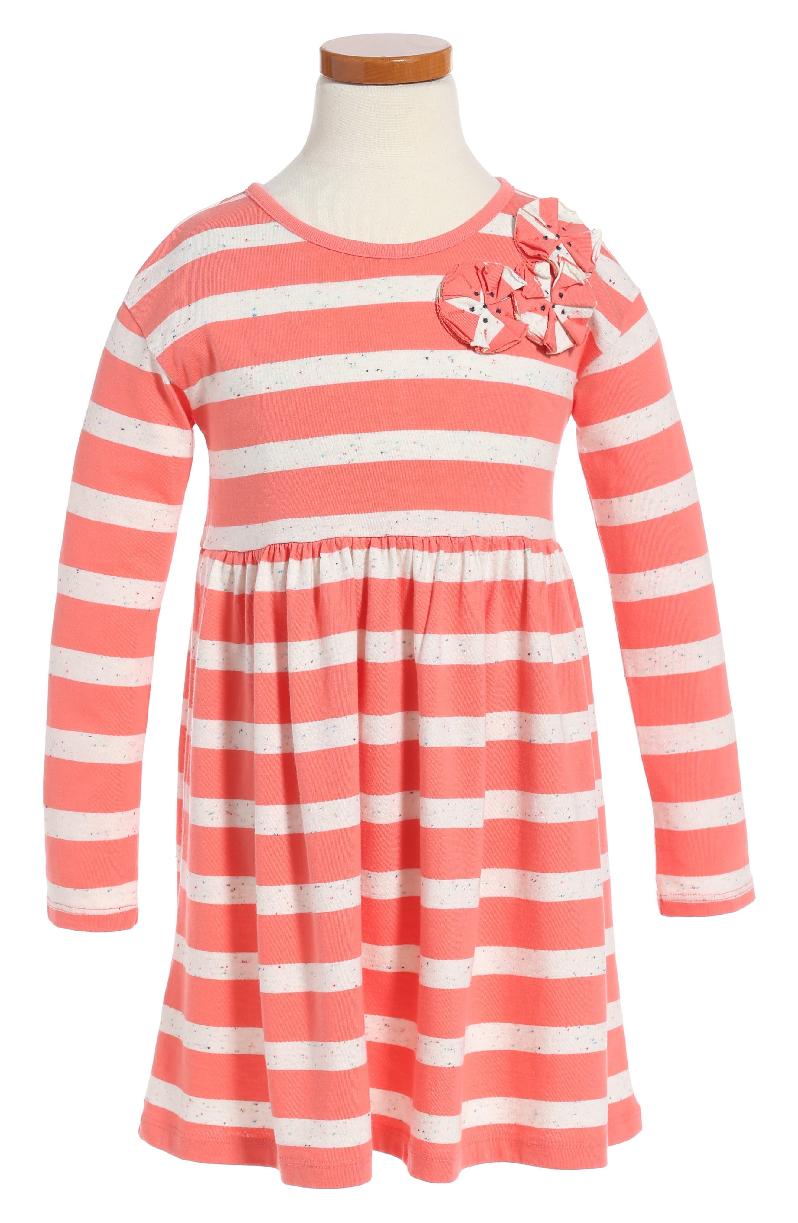 Saorsa Appliqué Dress,                             Main thumbnail 1, color,                             Orange Buoy