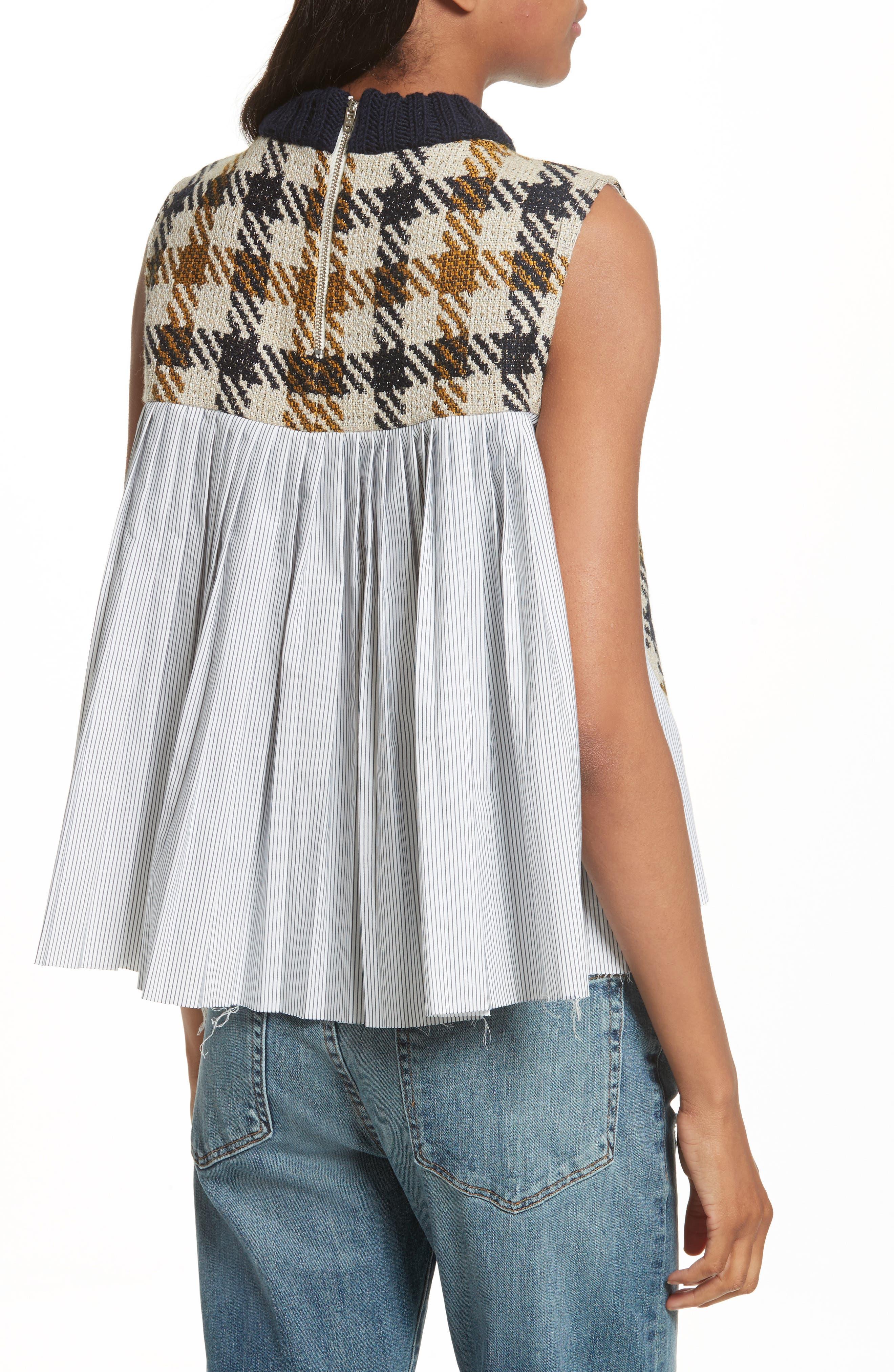 Combo Vest,                             Alternate thumbnail 2, color,                             Cream/ Black/ Yellow Multi