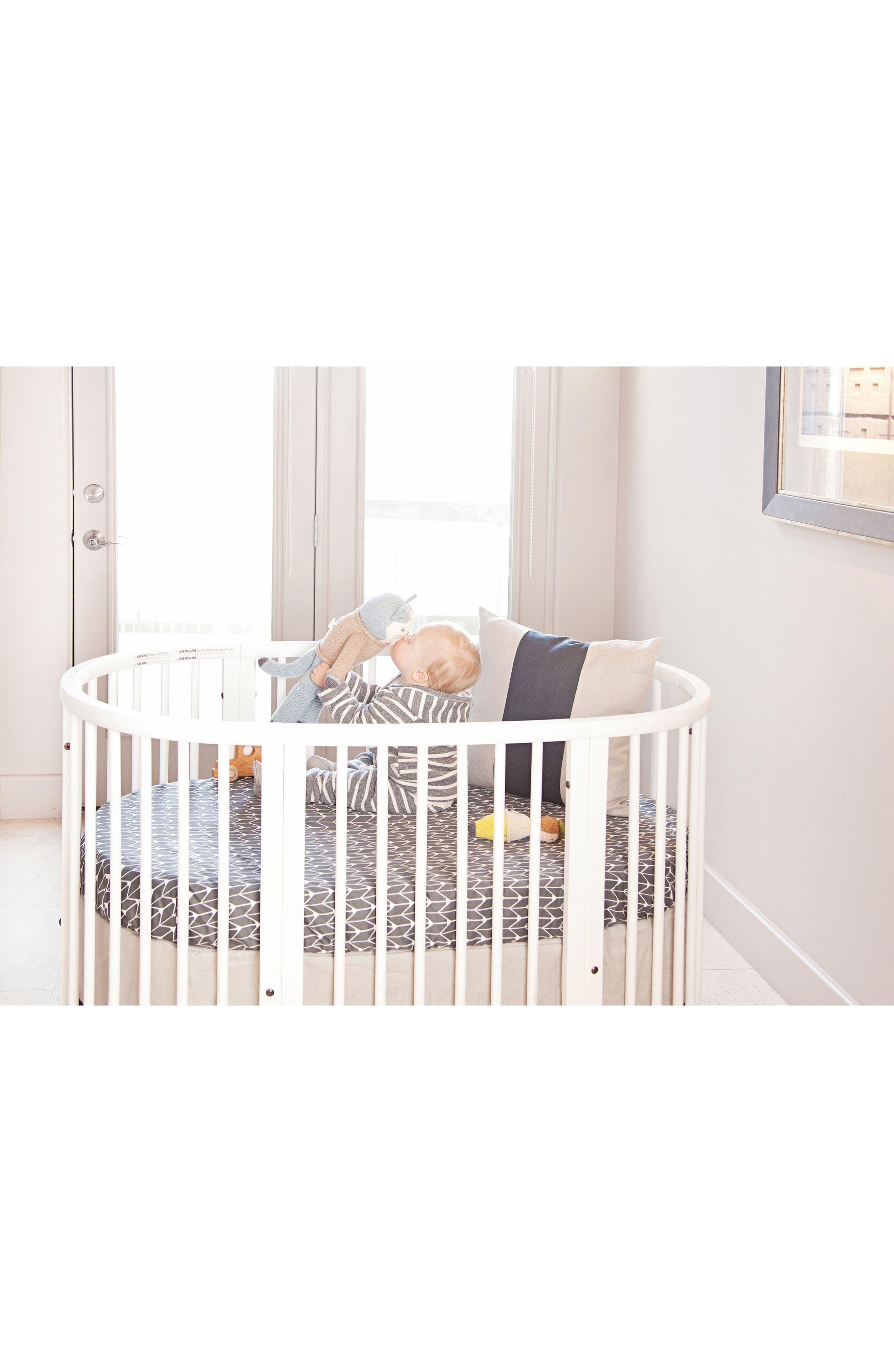 300 Thread Count Crib Sheet for Stokke Sleepi Crib,                             Alternate thumbnail 6, color,                             Charcoal