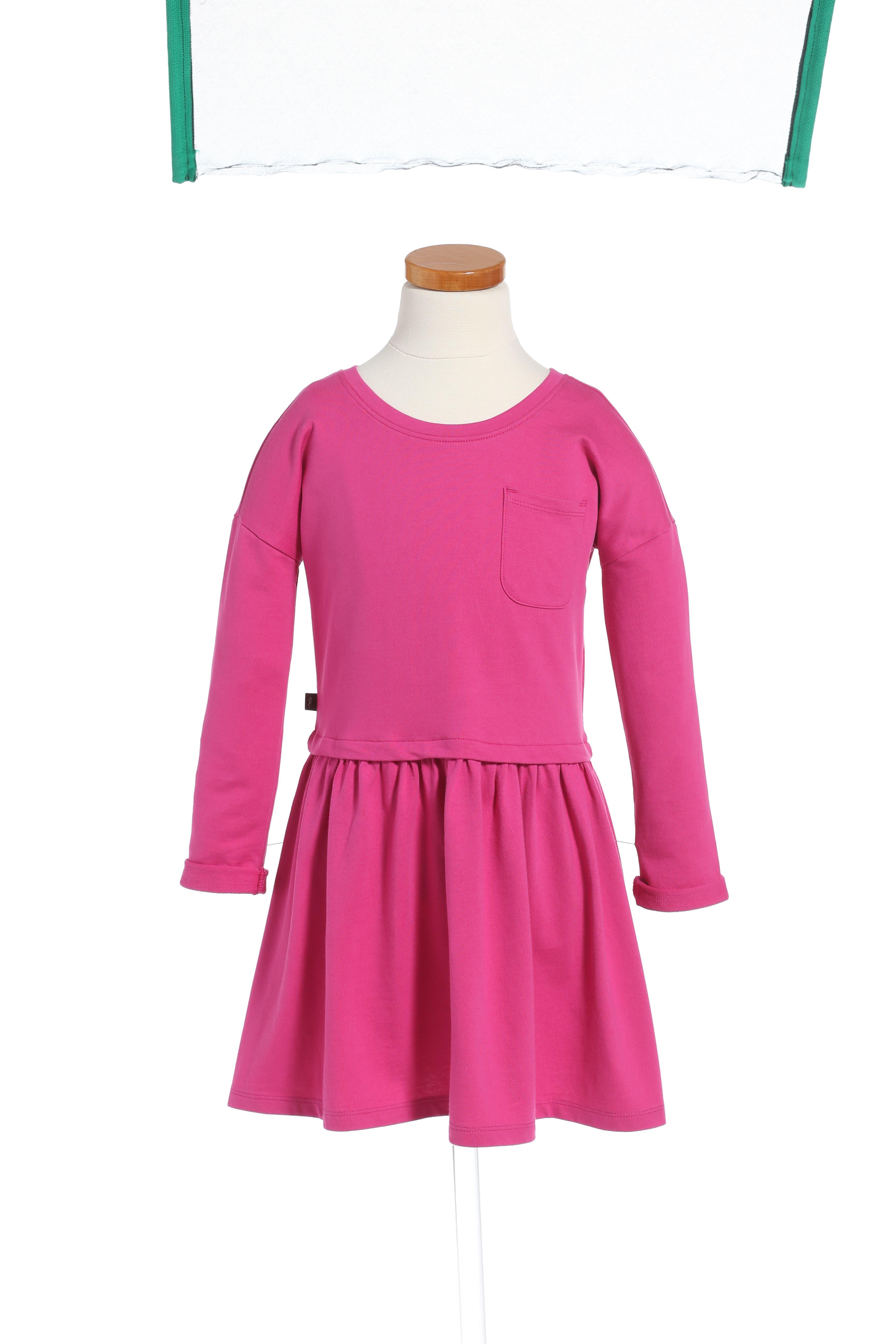 Solid Pocket Dress,                         Main,                         color, Pink