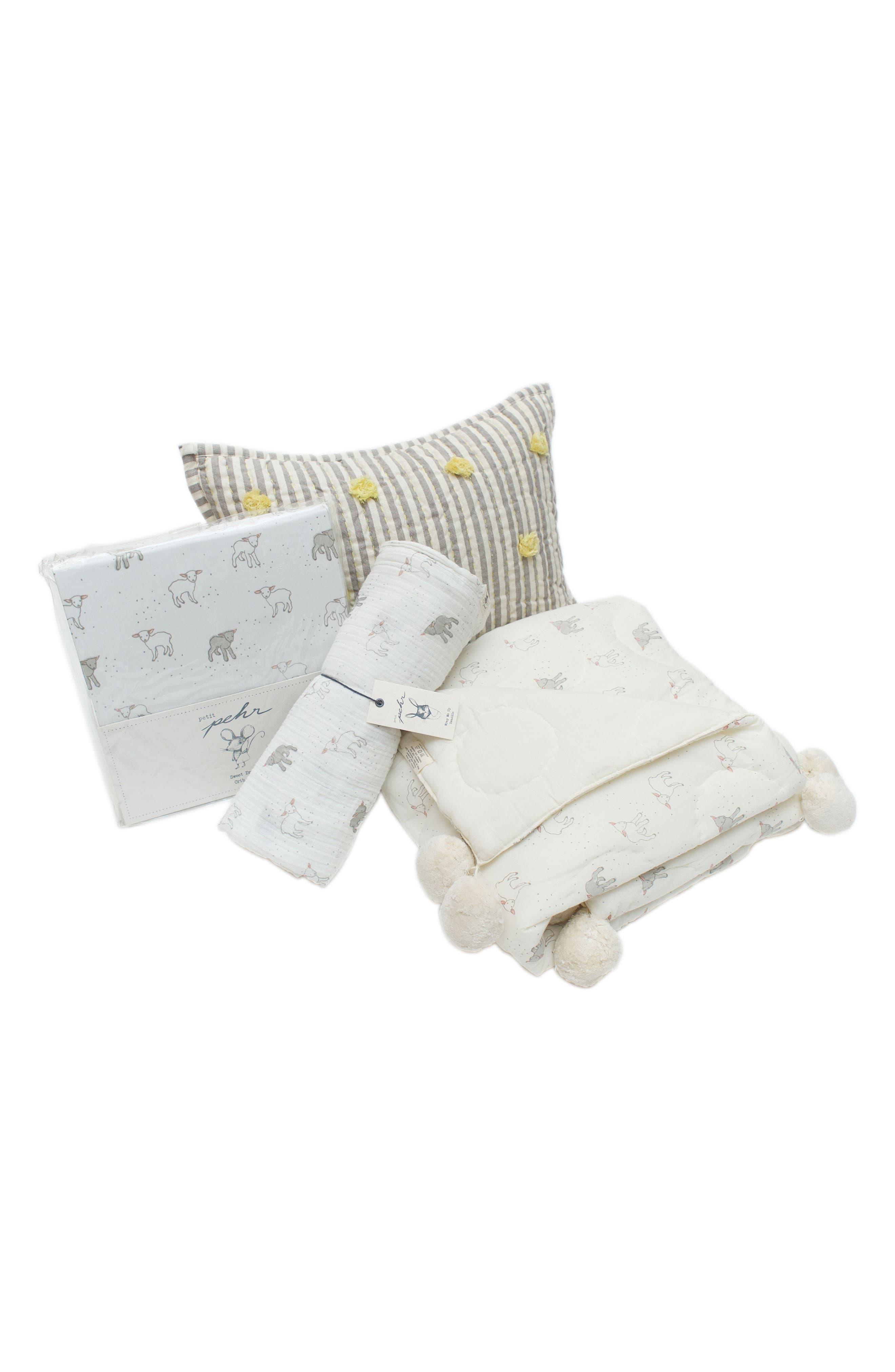 Petit Pehr Showers Crib Sheet, Swaddle, Blanket & Pillow Set (Baby)