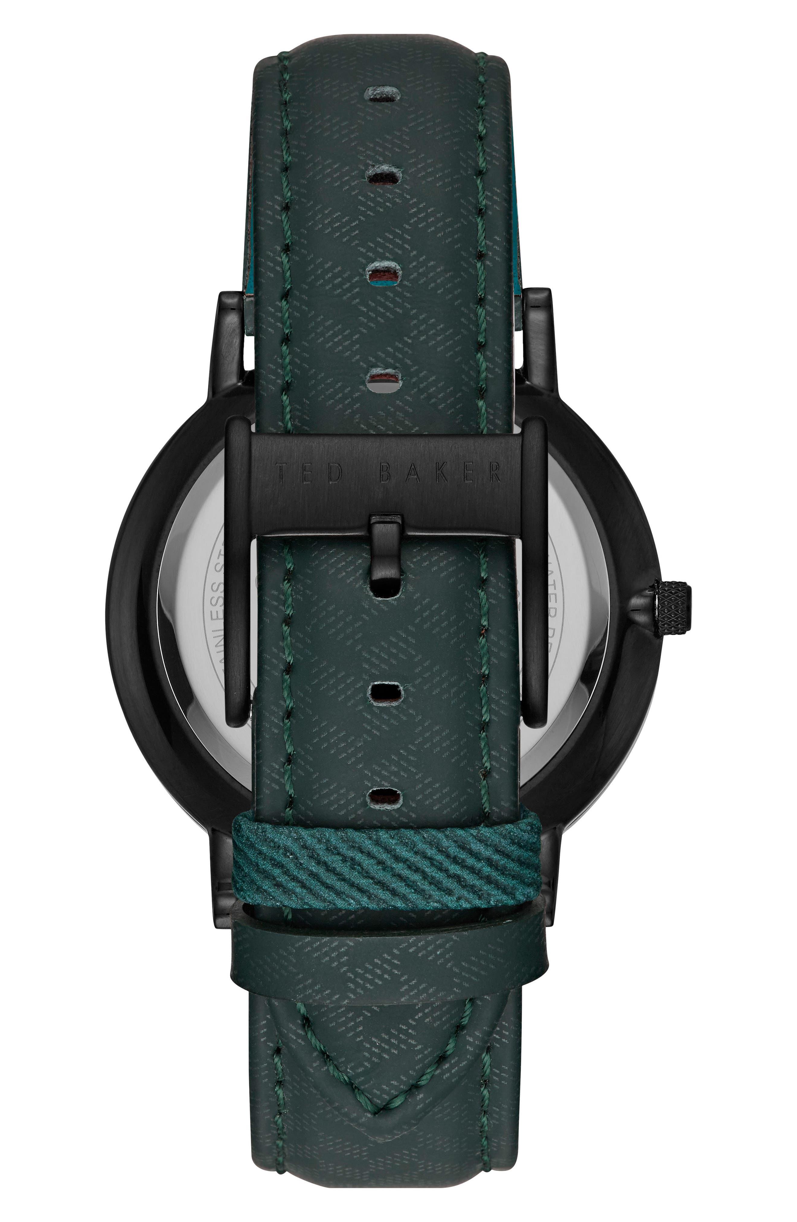 Alternate Image 2  - Ted Baker London David Leather Strap Watch, 40mm