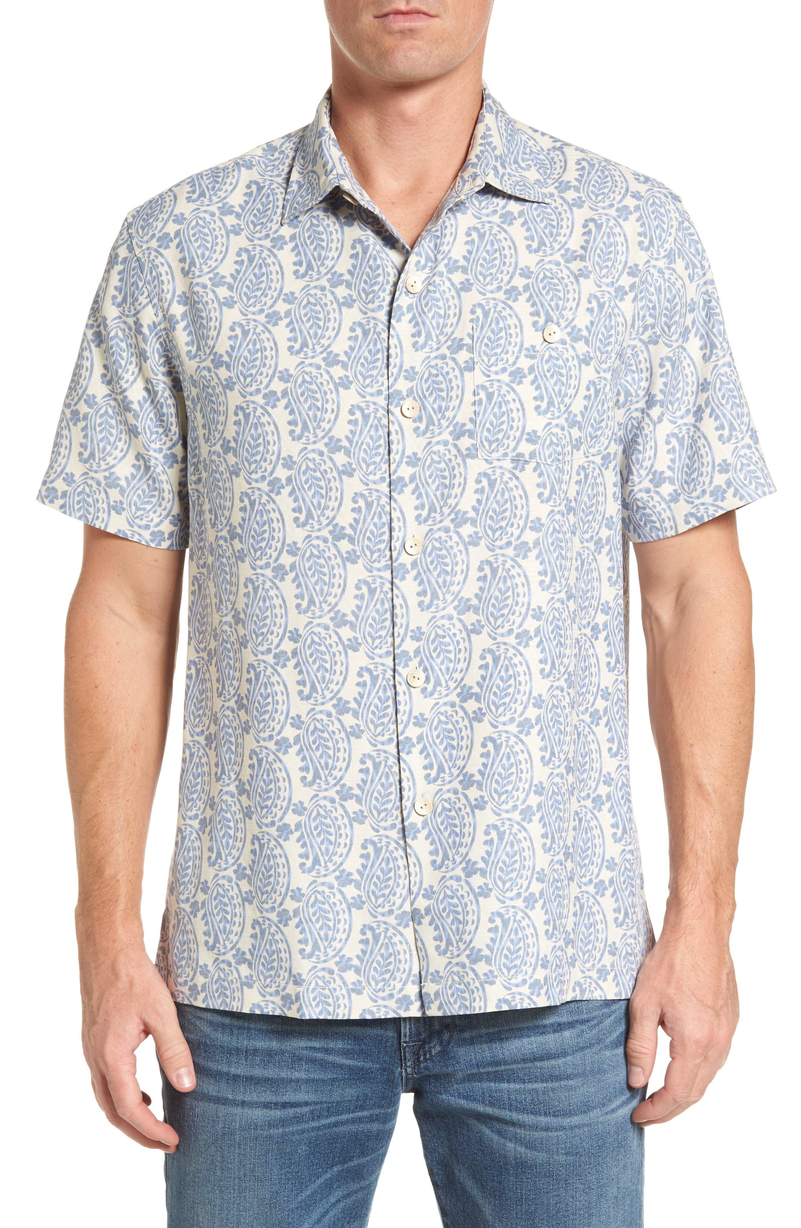 Paisley Days Woven Shirt,                         Main,                         color, Continental