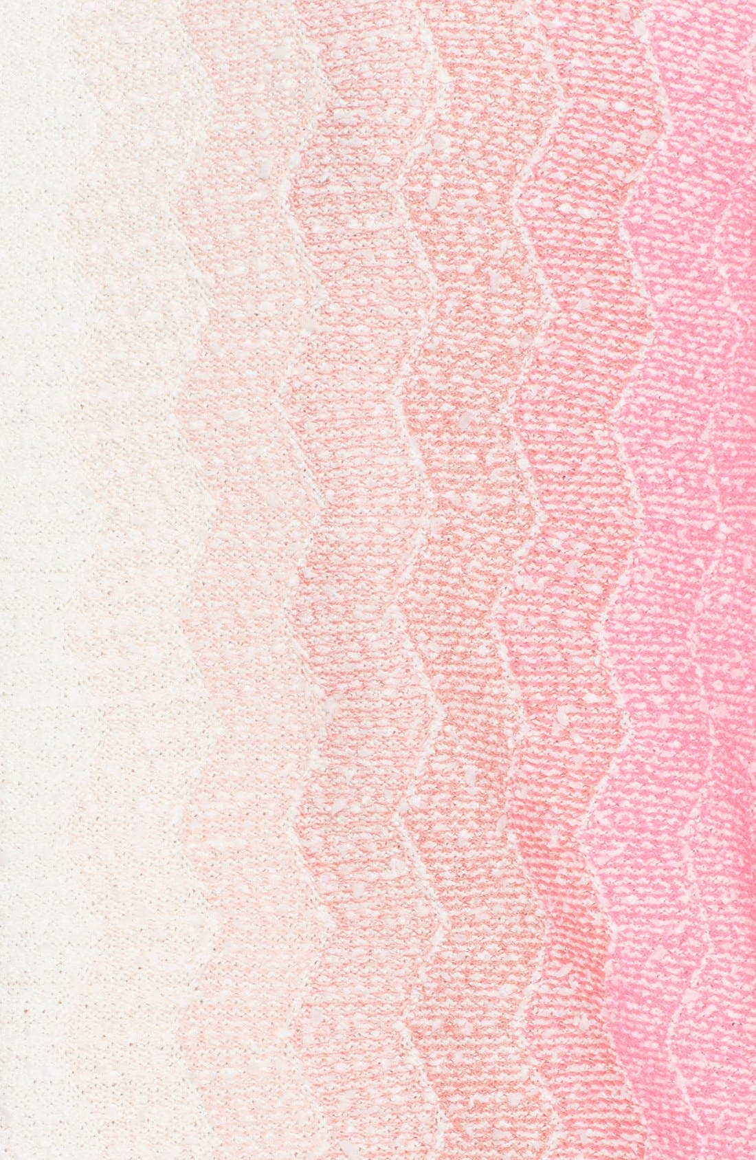 Alternate Image 3  - St. John Collection Vertical Dégradé Zigzag Knit Topper