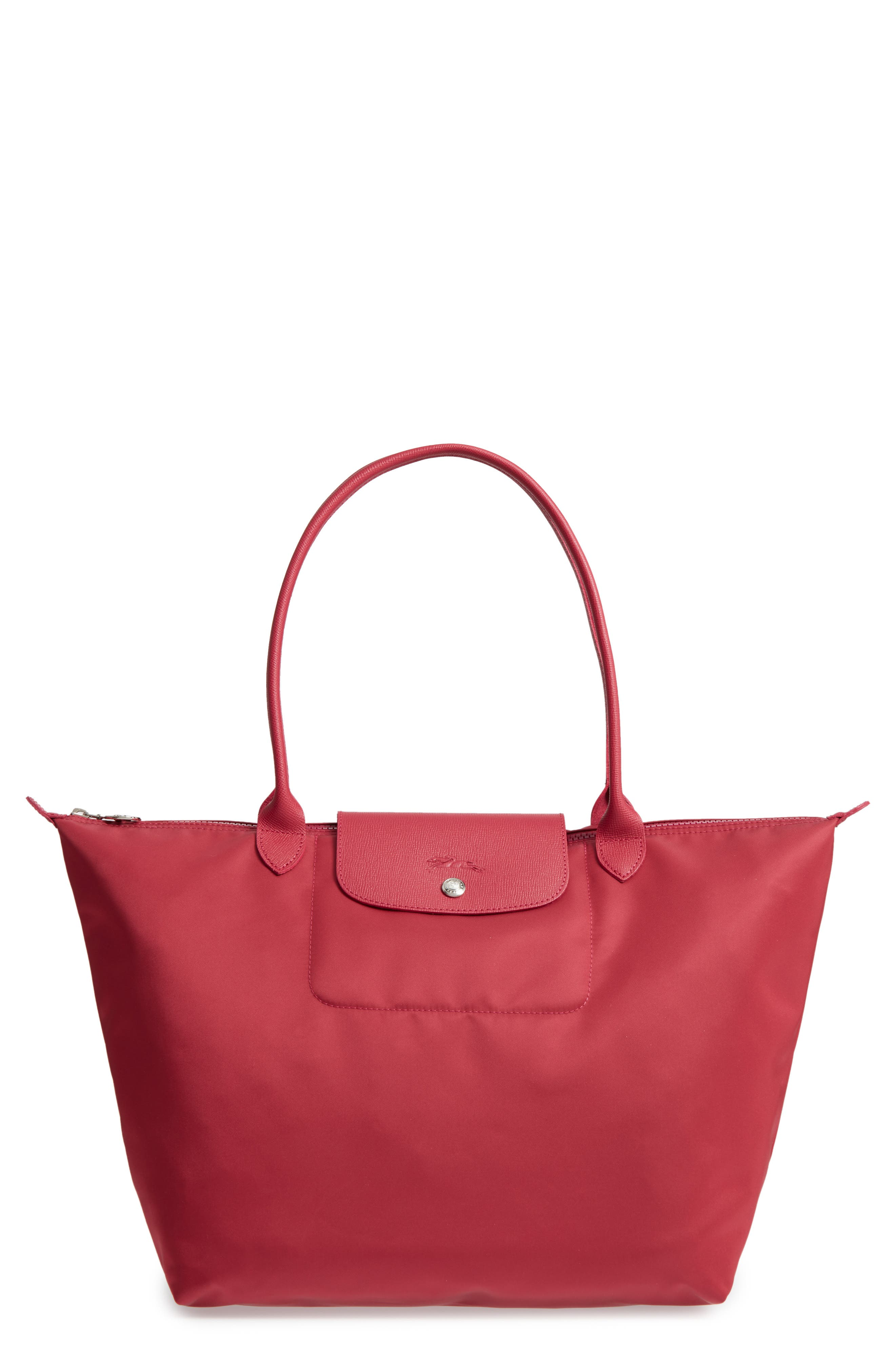 Large Le Pliage Neo Nylon Tote,                         Main,                         color, Raspberry