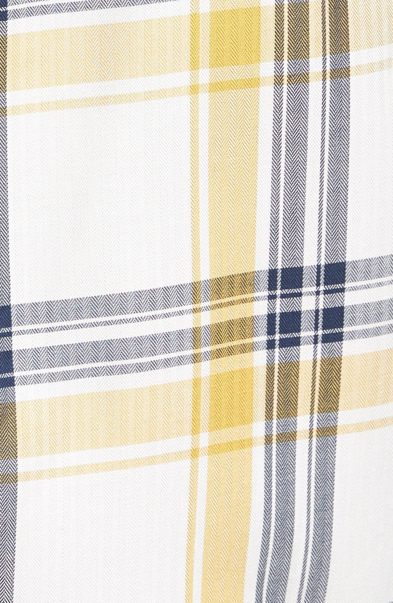 Newton Plaid Shirt,                             Alternate thumbnail 5, color,                             Sun Gold