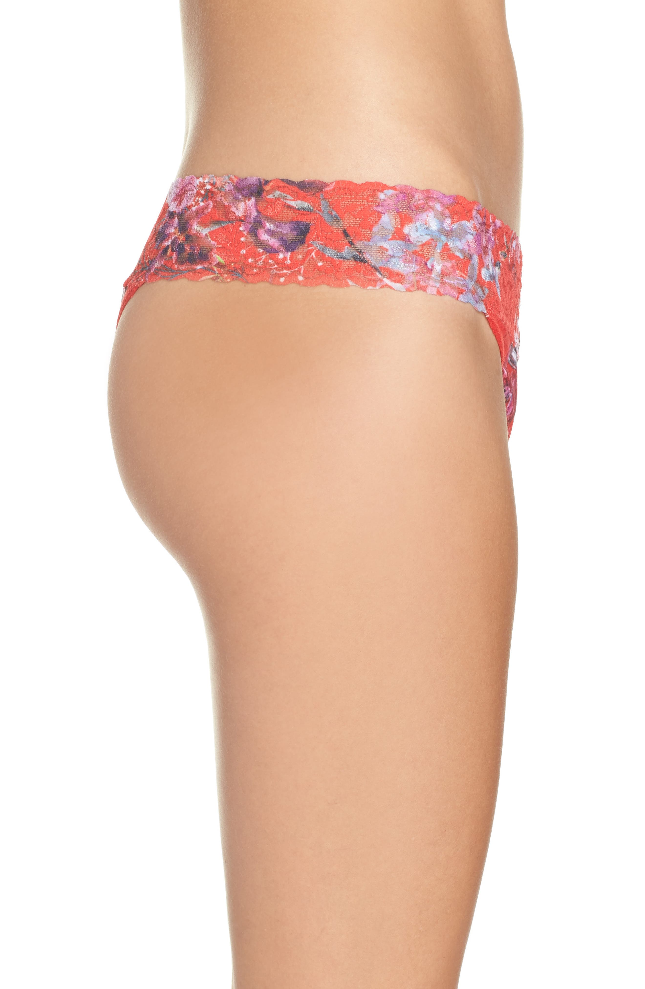 Alternate Image 3  - Hanky Panky Fiery Floral Original Rise Thong