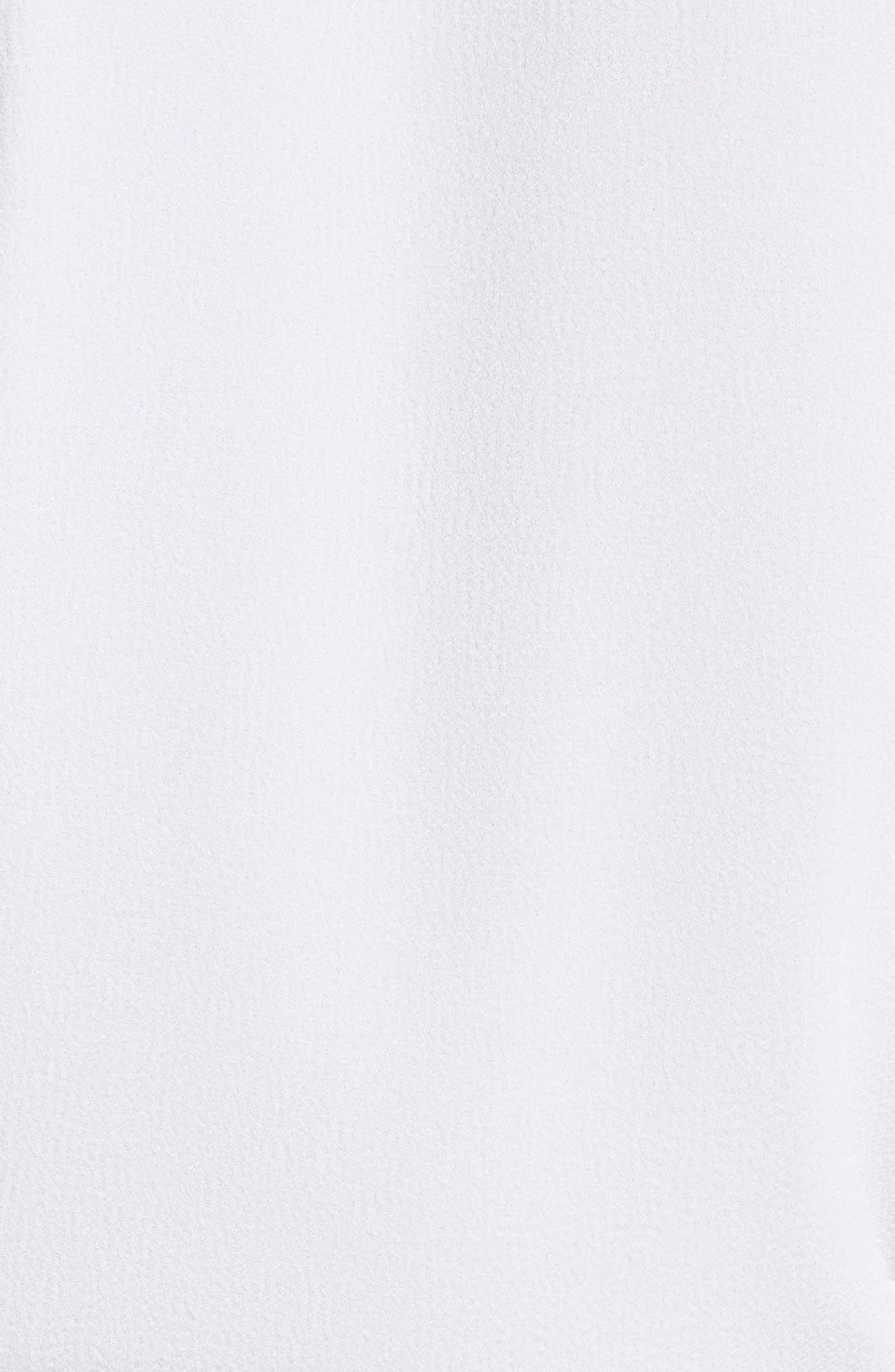 Dolman Sleeve Crepe Top,                             Alternate thumbnail 5, color,                             White