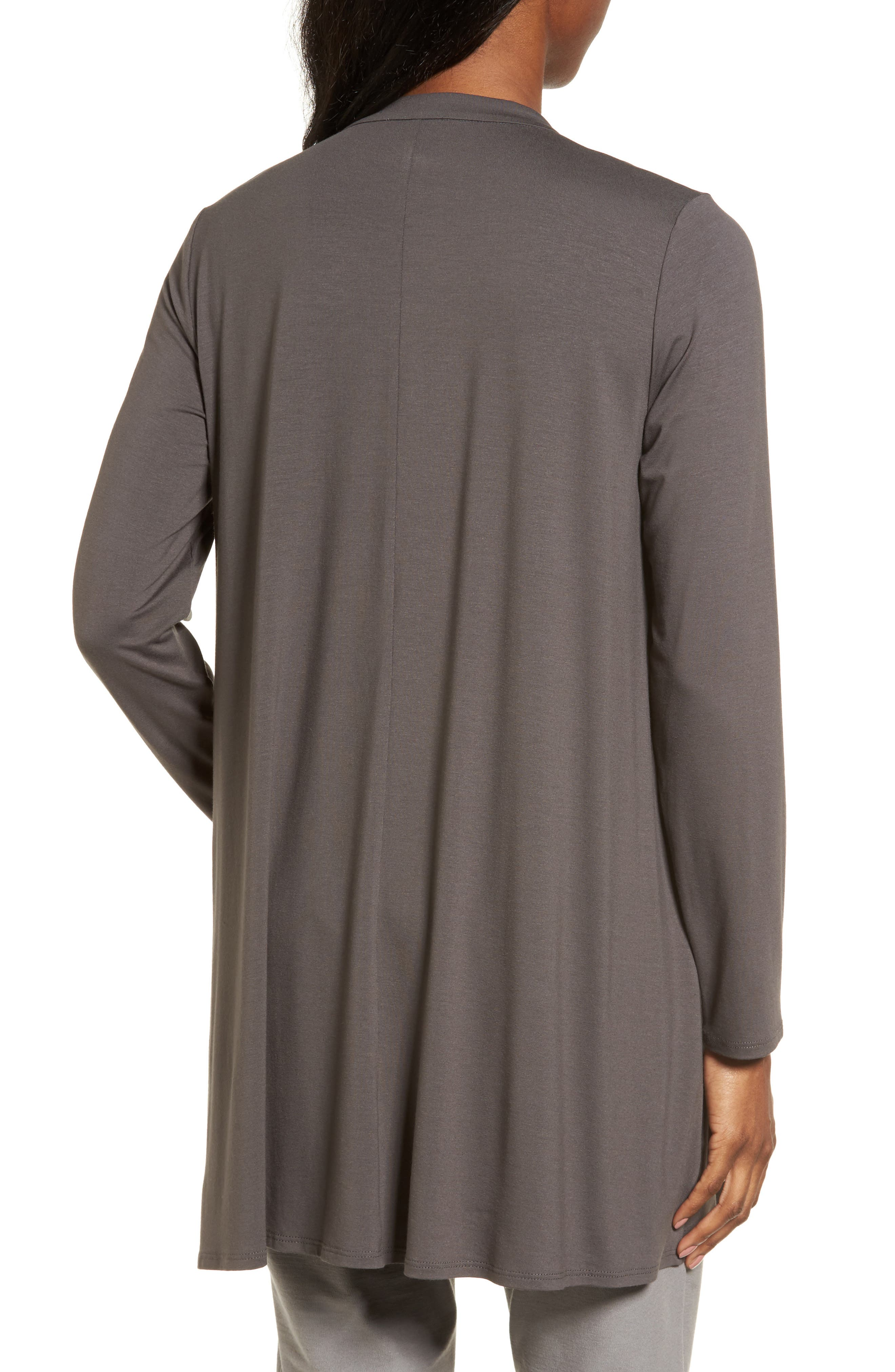 Button Front Jersey Tunic,                             Alternate thumbnail 2, color,                             Bark